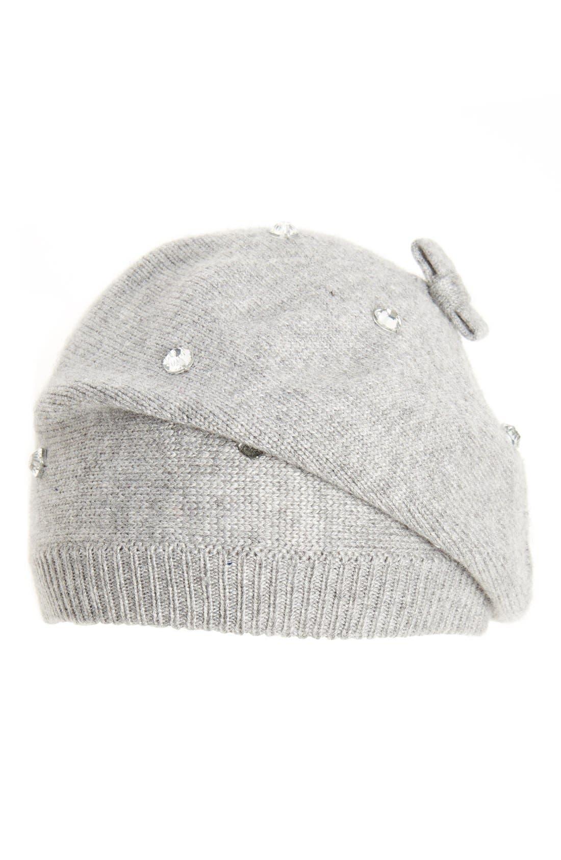 Alternate Image 1 Selected - kate spade new york crystal embellished beret