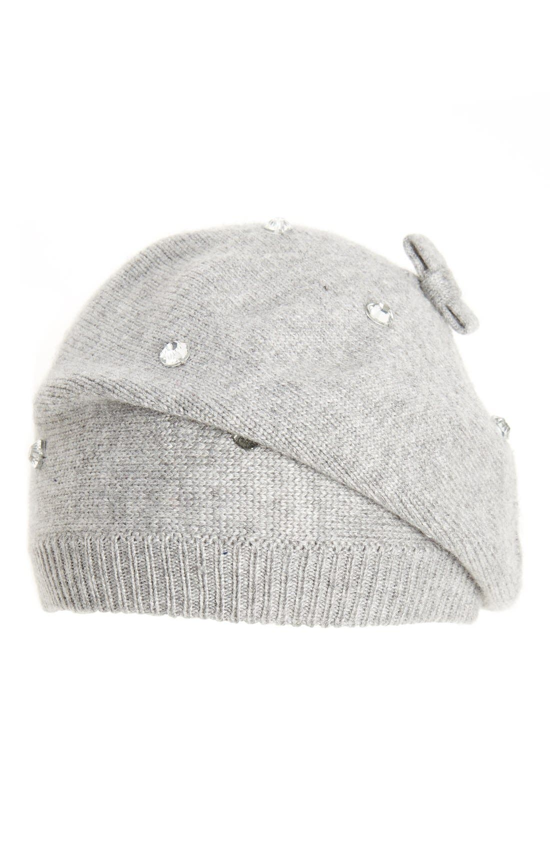 Main Image - kate spade new york crystal embellished beret