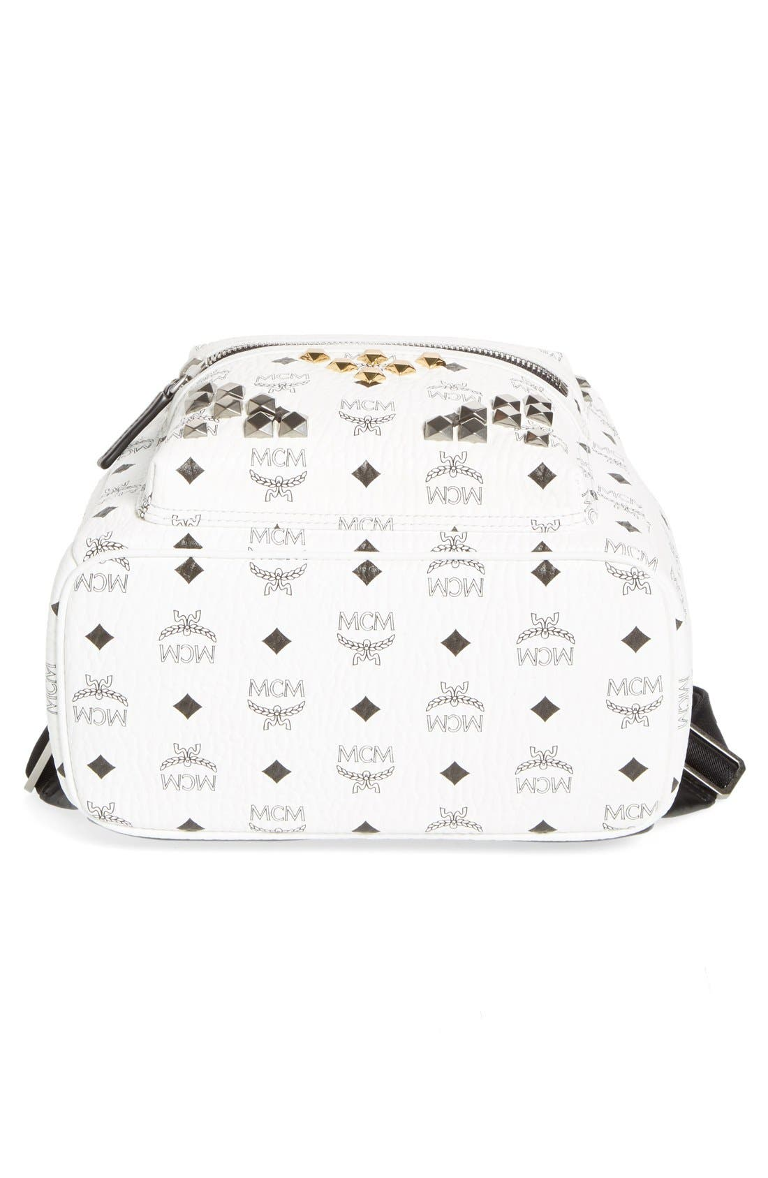 Alternate Image 6  - MCM 'Small Stark - Visetos' Studded Backpack