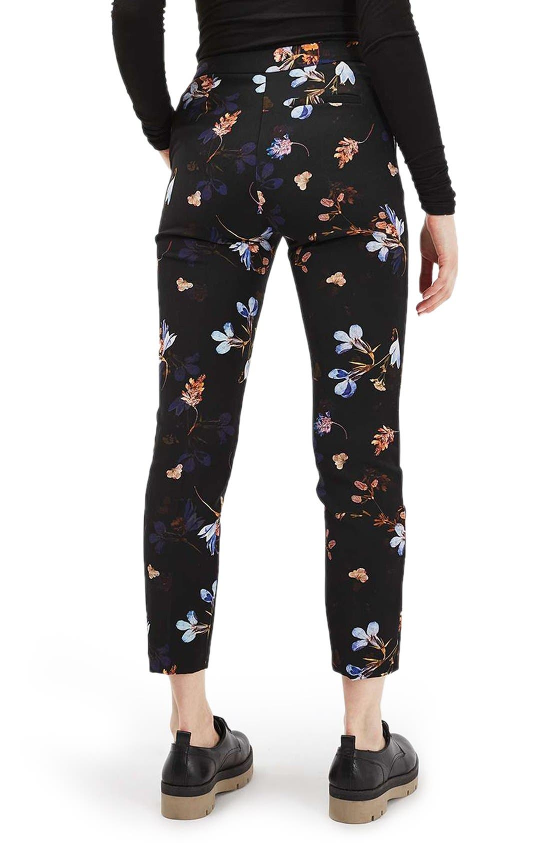 Alternate Image 3  - Topshop Floral Print Cigarette Pants
