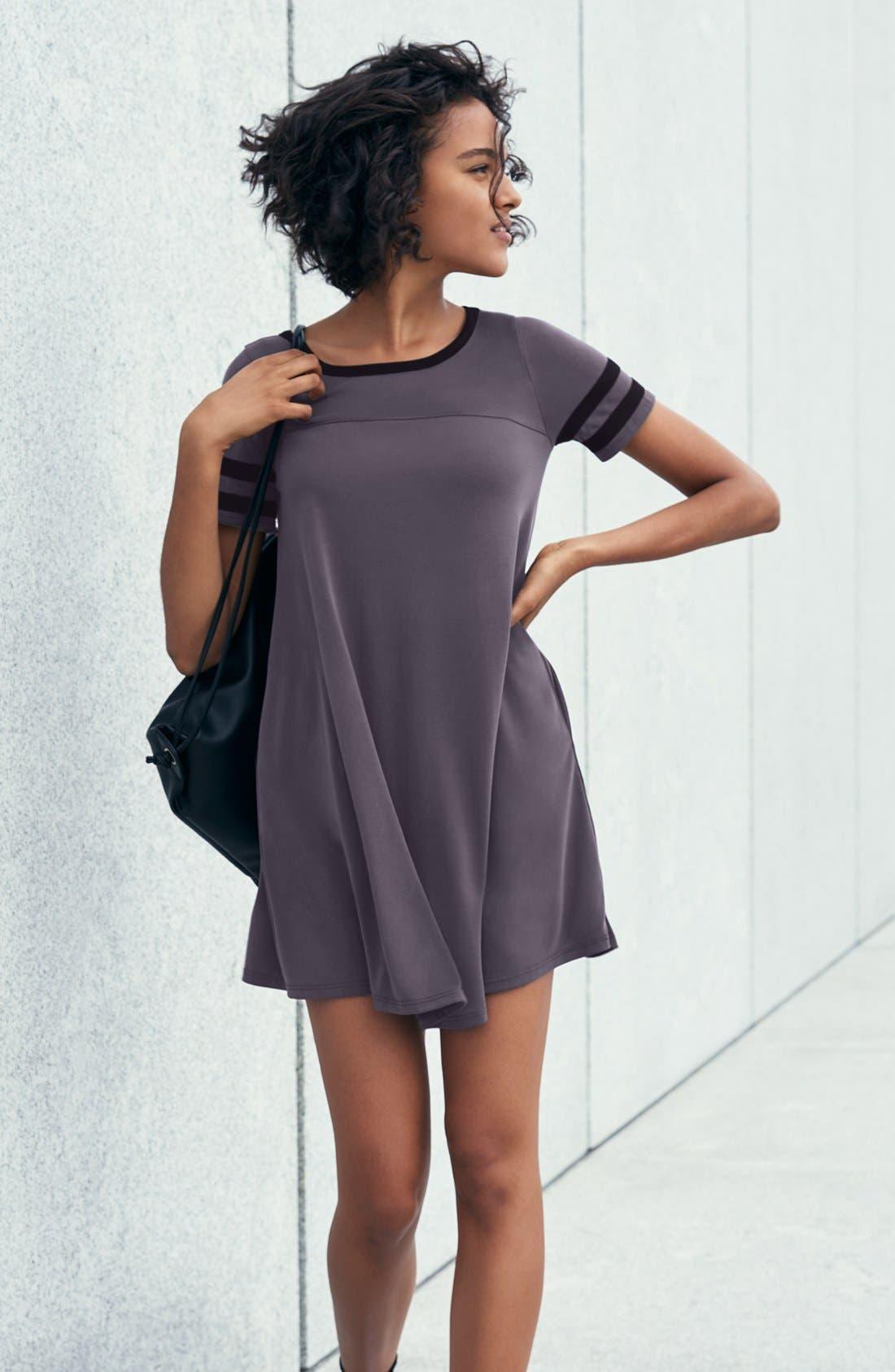 Alternate Image 2  - Socialite Varsity T-Shirt Dress