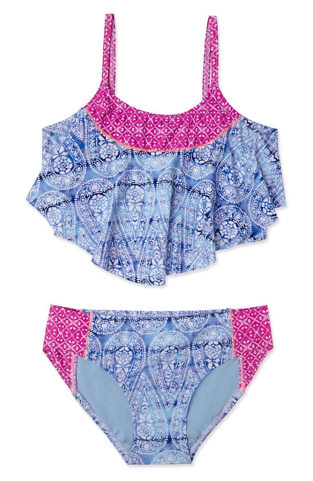 Gossip Girl Two-Piece Tankini Swimsuit (Big Girls)