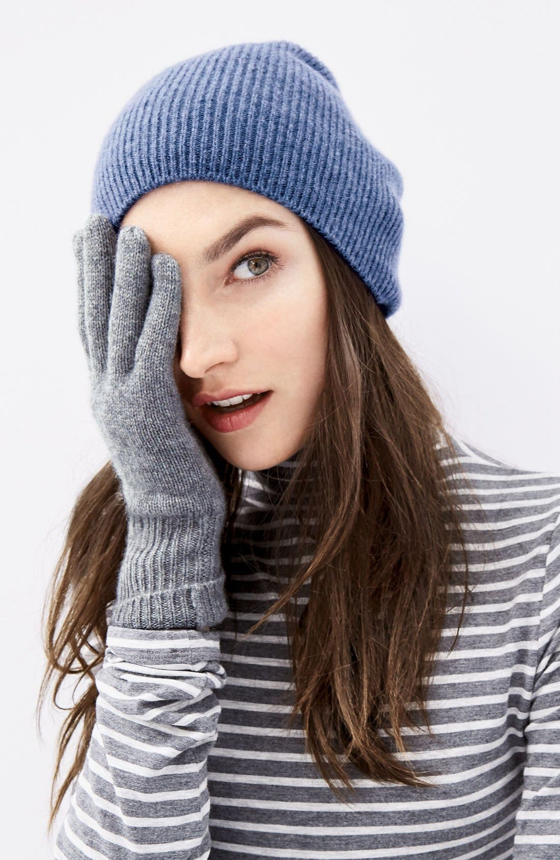 Alternate Image 3  - Halogen® Rib Knit Cashmere Gloves