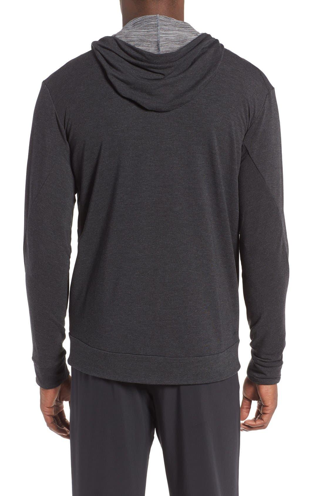 Alternate Image 2  - Nike Dri-Fit Training Fleece Hooded Sweatshirt