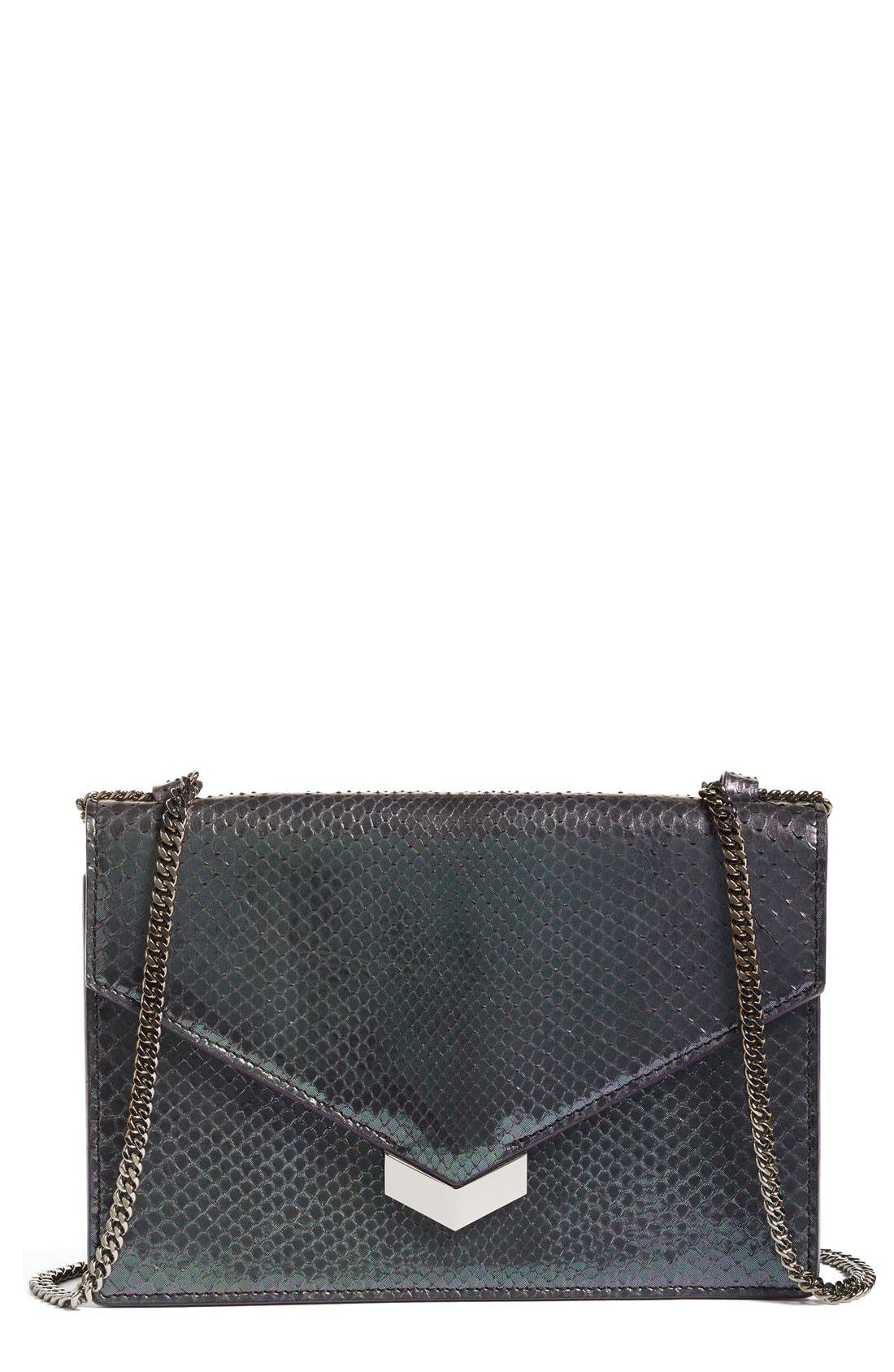 JIMMY CHOO Leila Genuine Python Crossbody Bag