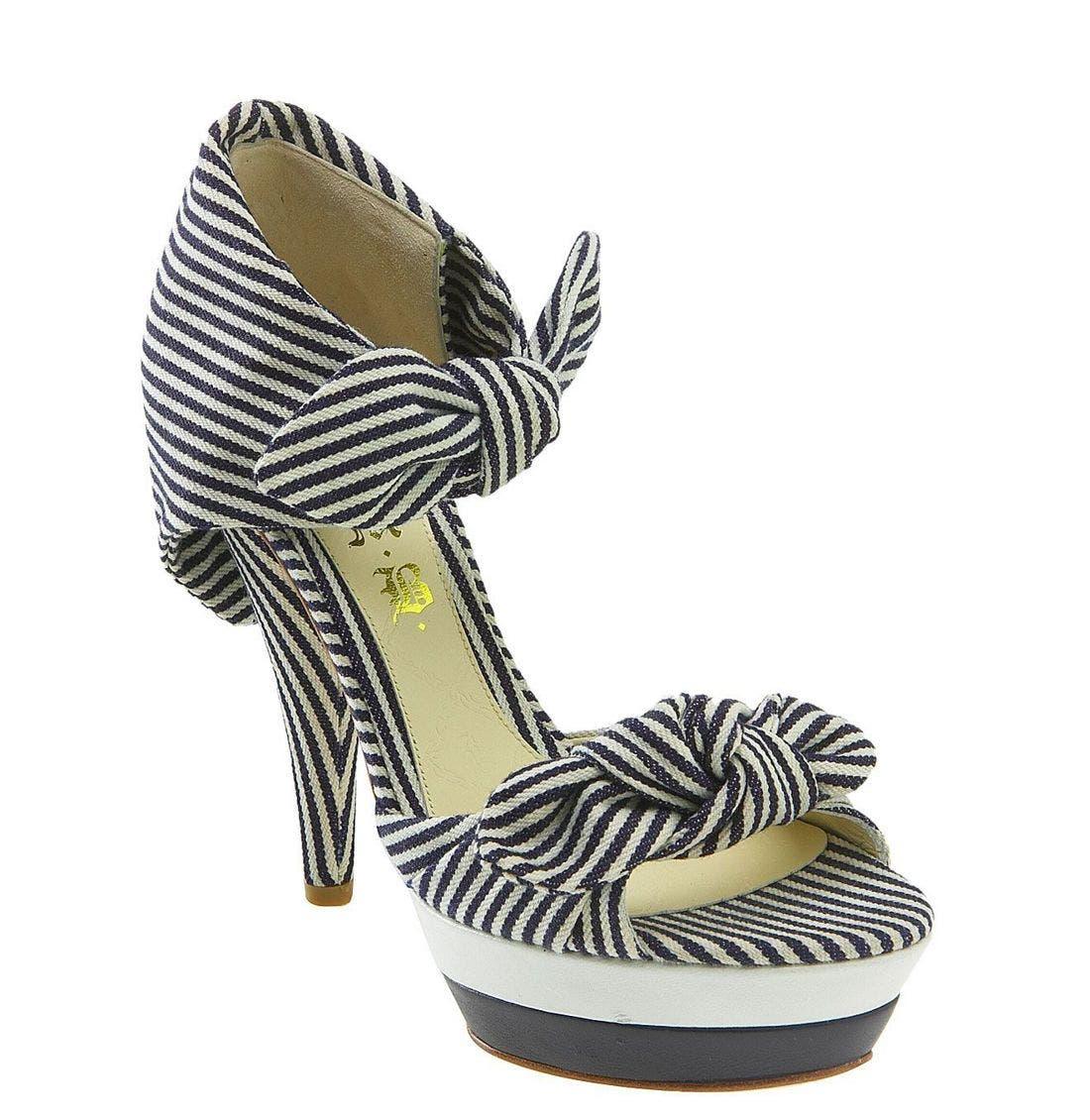 Alternate Image 1 Selected - L.A.M.B. 'Dominic' Striped Sandal