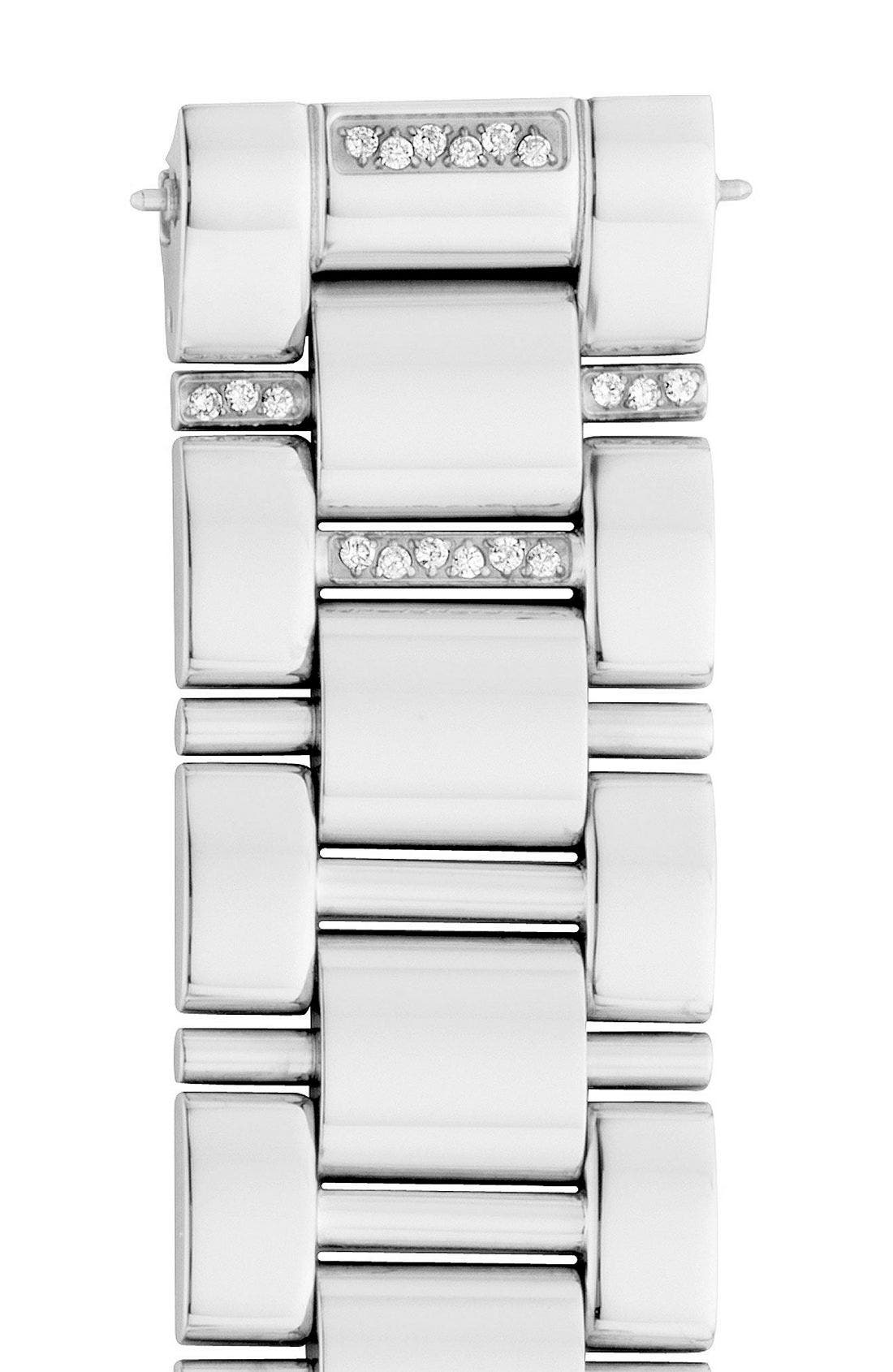 Alternate Image 1 Selected - MICHELE 'Deco Diamond' Watch Case & 18mm Bracelet