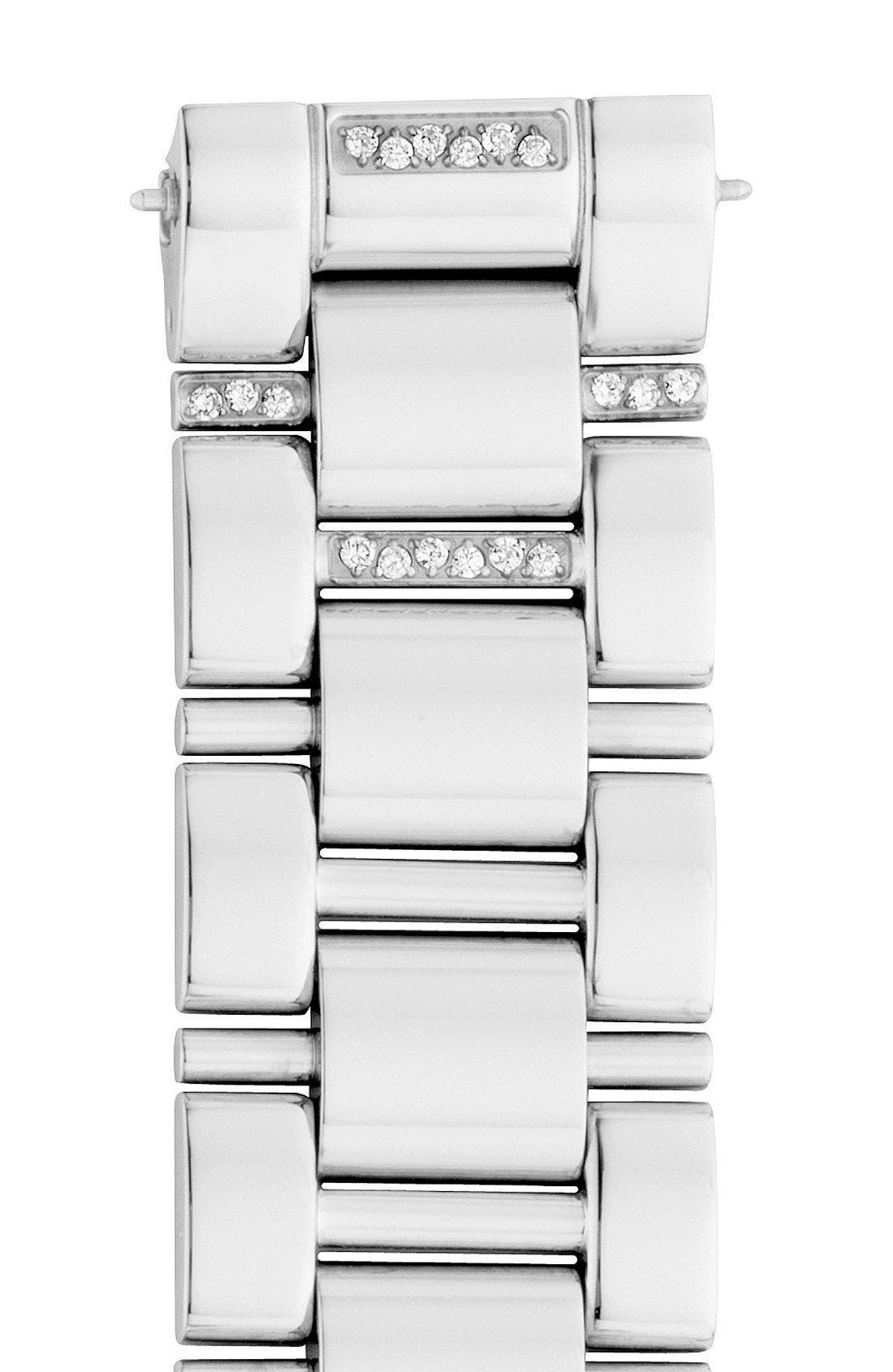 Main Image - MICHELE 'Deco Diamond' Watch Case & 18mm Bracelet