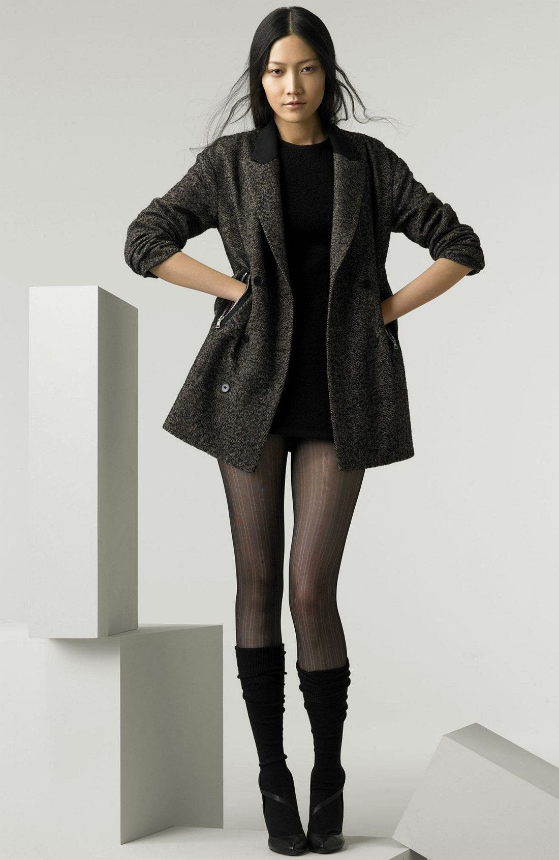 Alternate Image 1 Selected - Alexander Wang Herringbone Boyfriend Jacket