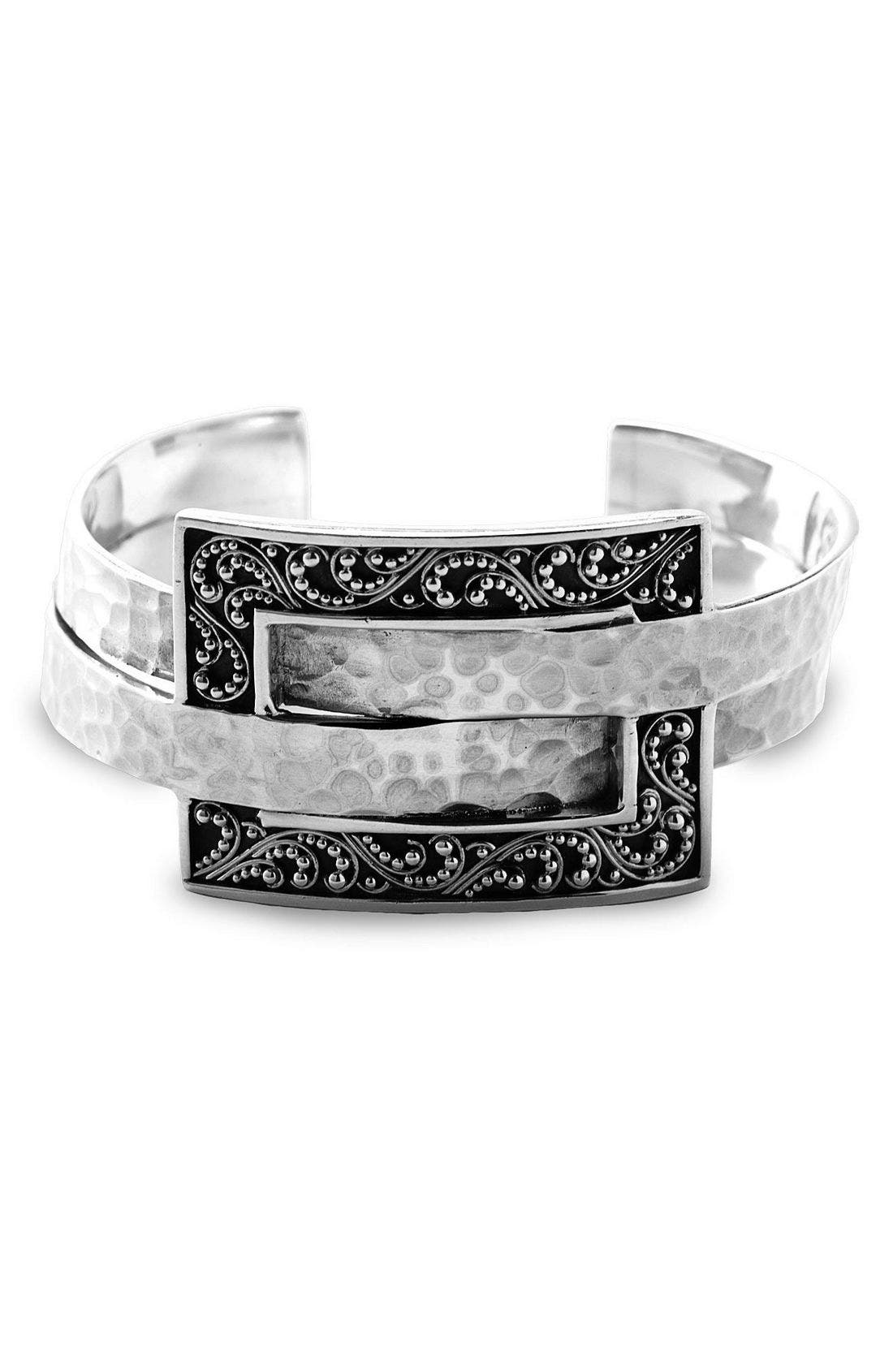 Alternate Image 1 Selected - Lois Hill 'Deco' Granulated & Hammered Bangle