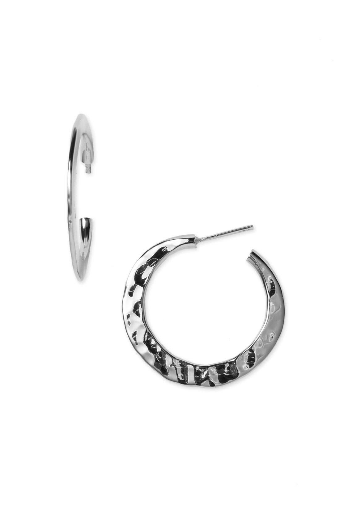 Alternate Image 1 Selected - Argento Vivo Flat Hoop Earrings