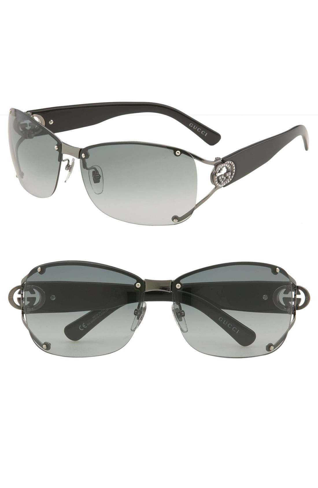 Alternate Image 1 Selected - Gucci 62mm Open Temple Special Fit Rimless Sunglasses