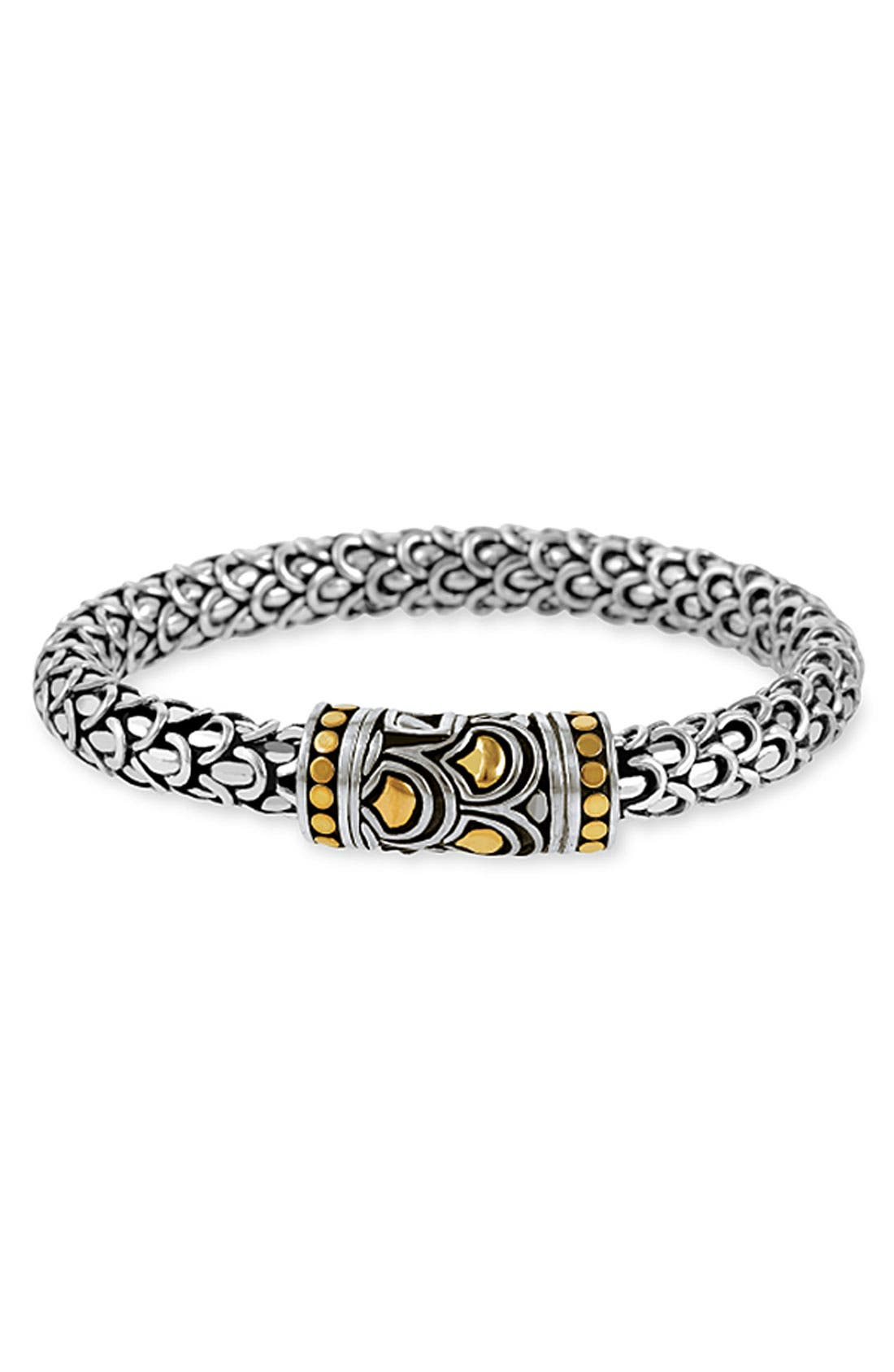 Alternate Image 1 Selected - John Hardy 'Naga' Silver & Gold Bracelet