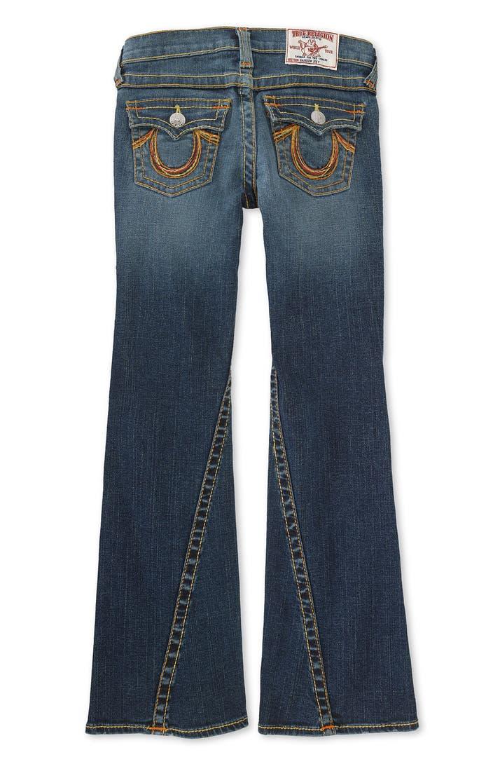 true religion brand jeans 39 joey 39 bootcut stretch jeans. Black Bedroom Furniture Sets. Home Design Ideas