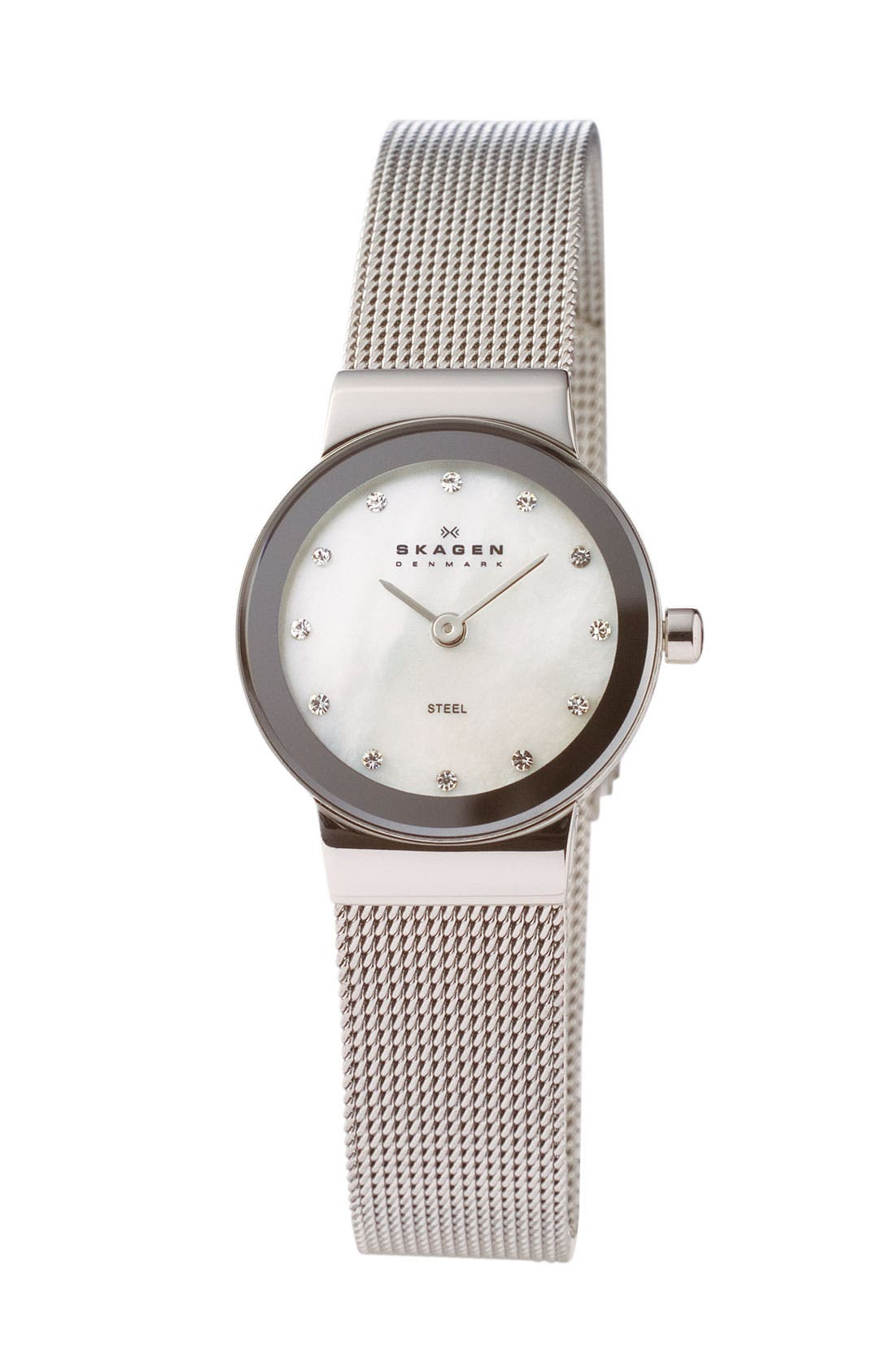 Alternate Image 1 Selected - Skagen Extra Small Mother-of-Pearl Watch