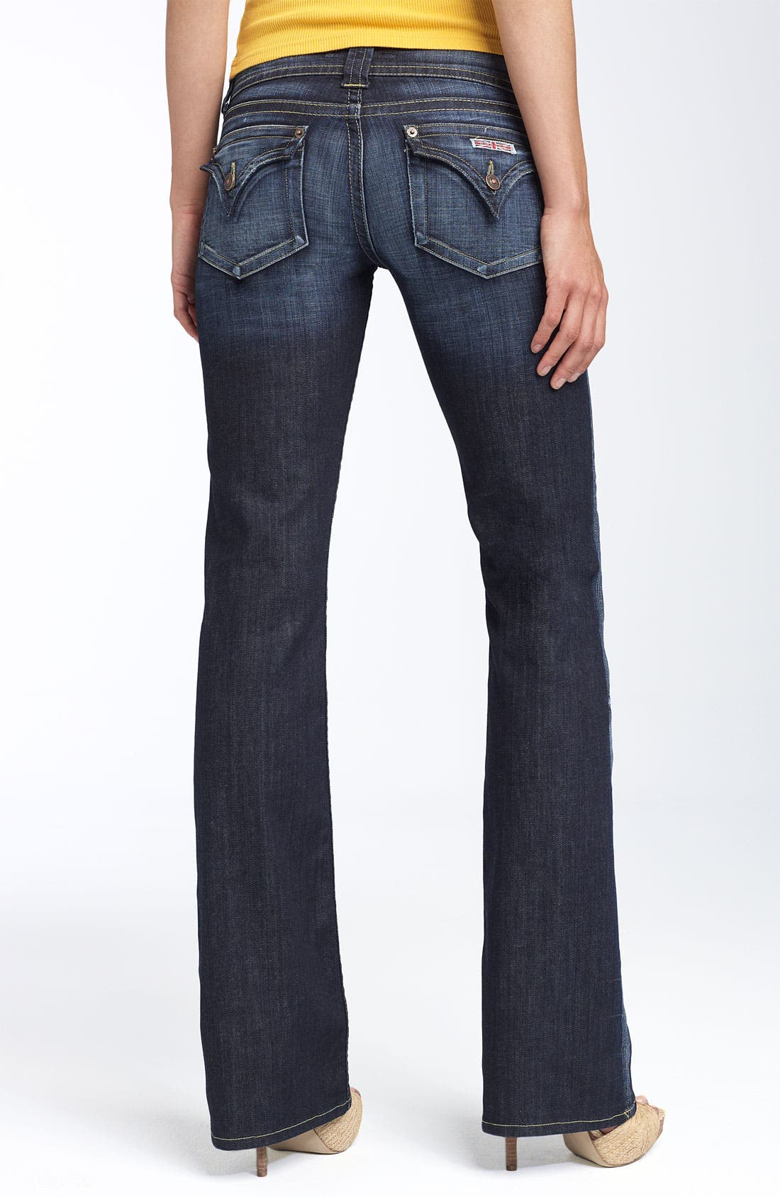Alternate Image 2  - Hudson Jeans Signature Flap Pocket Bootcut Jeans (Elm)