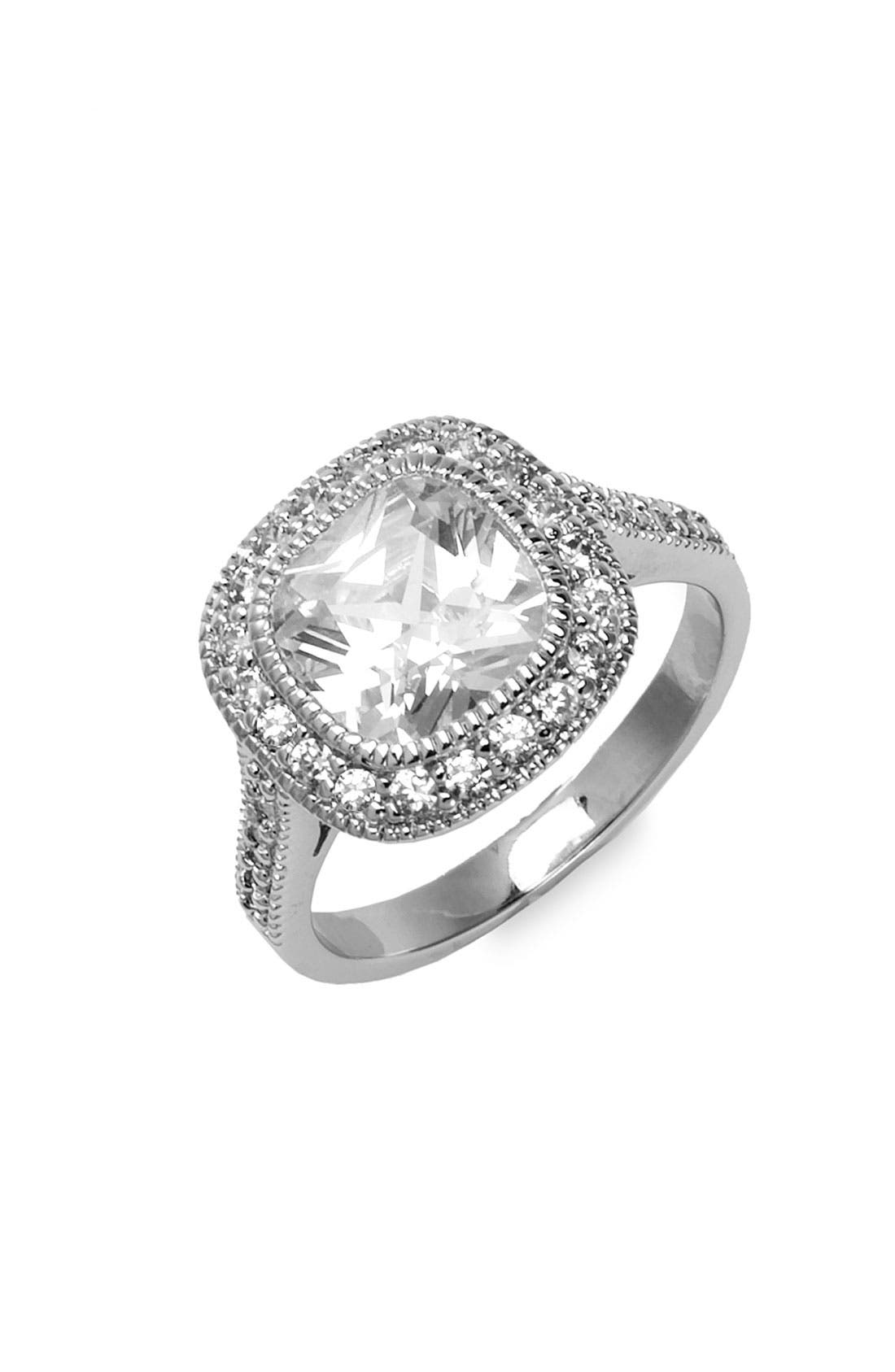 Alternate Image 1 Selected - Ariella Collection Cushion Cut Ring