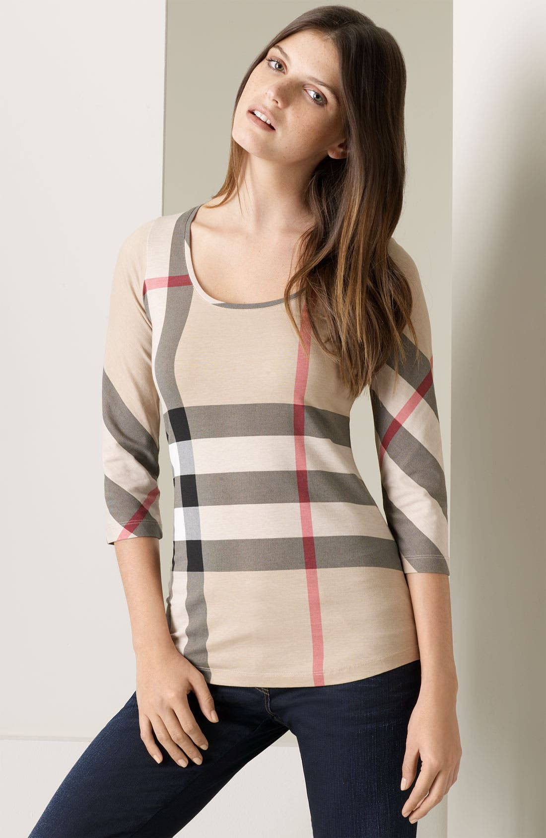 Alternate Image 1 Selected - Burberry Brit Check Tee