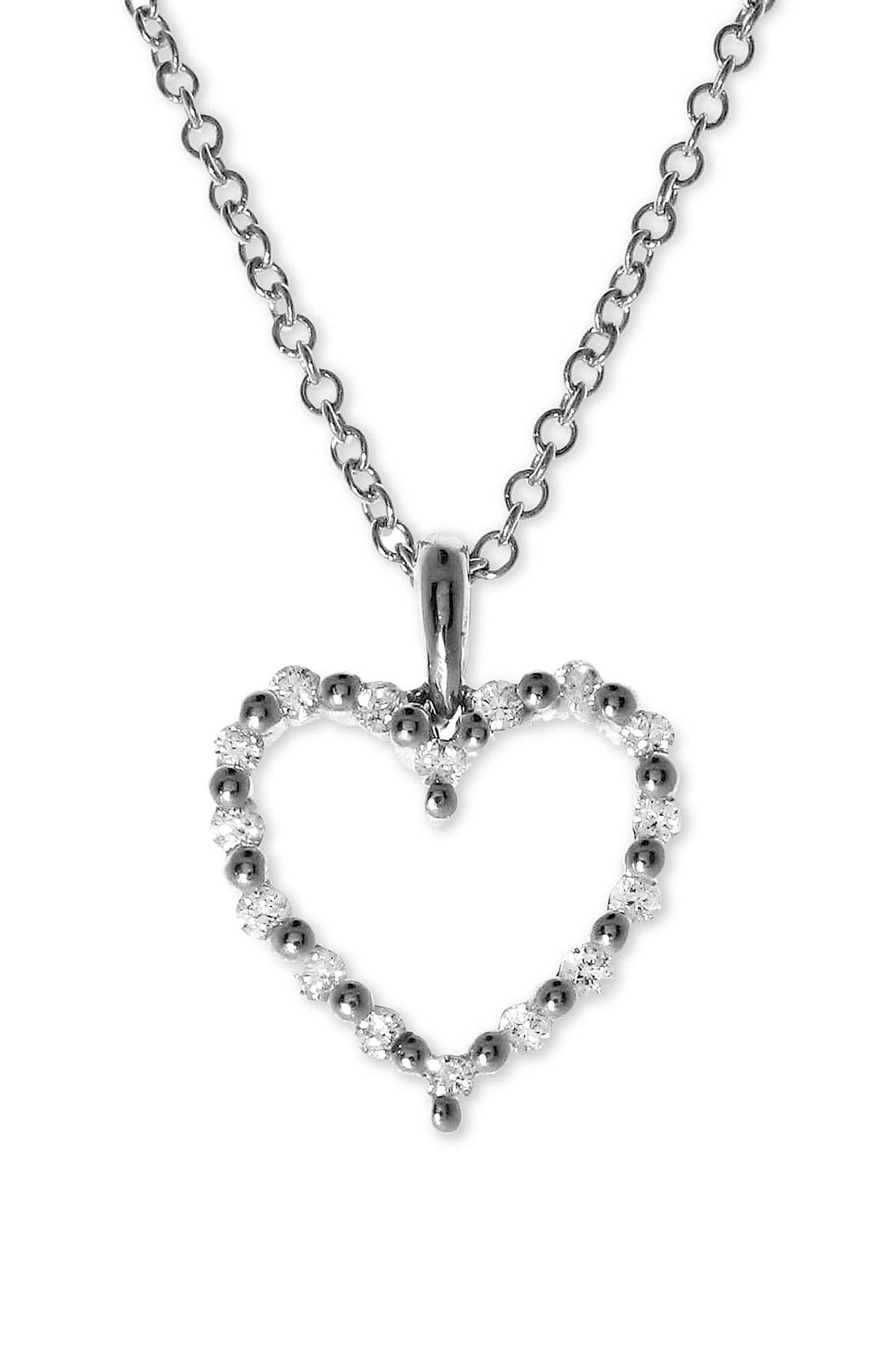 Alternate Image 2  - Bony Levy Diamond Heart Pendant Necklace (Nordstrom Exclusive)