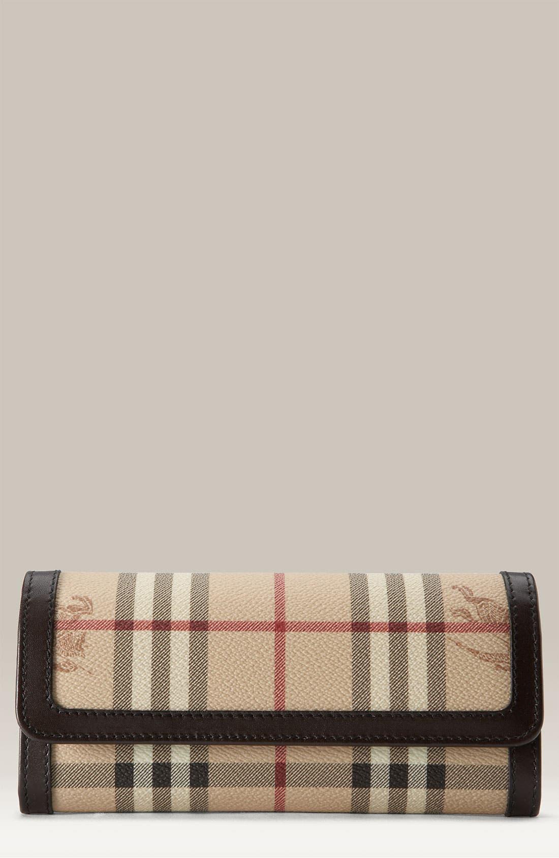 Main Image - Burberry Check Print Wallet