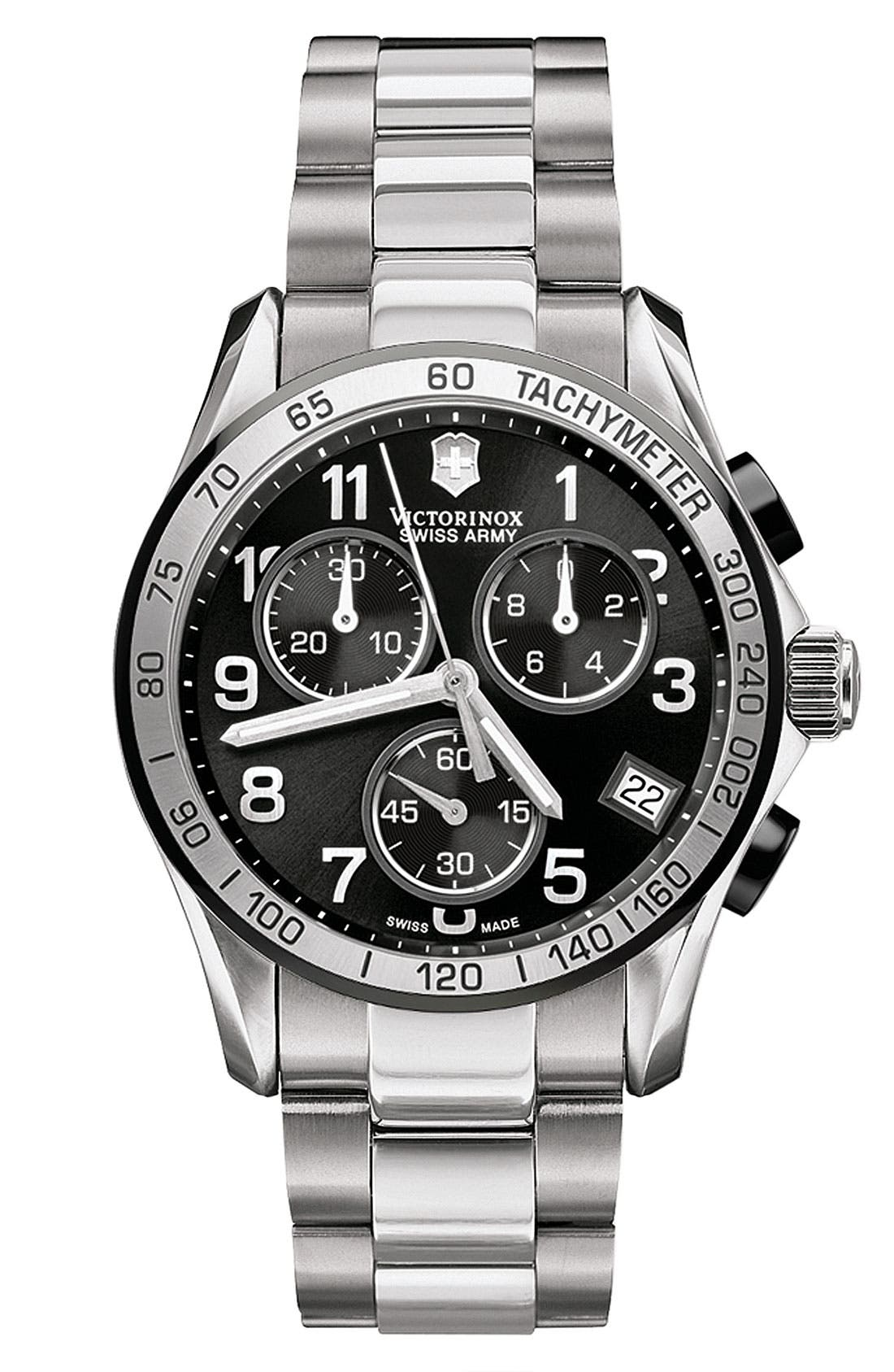 Alternate Image 1 Selected - Victorinox Swiss Army® 'Chrono Classic' Stainless Steel Bracelet Watch