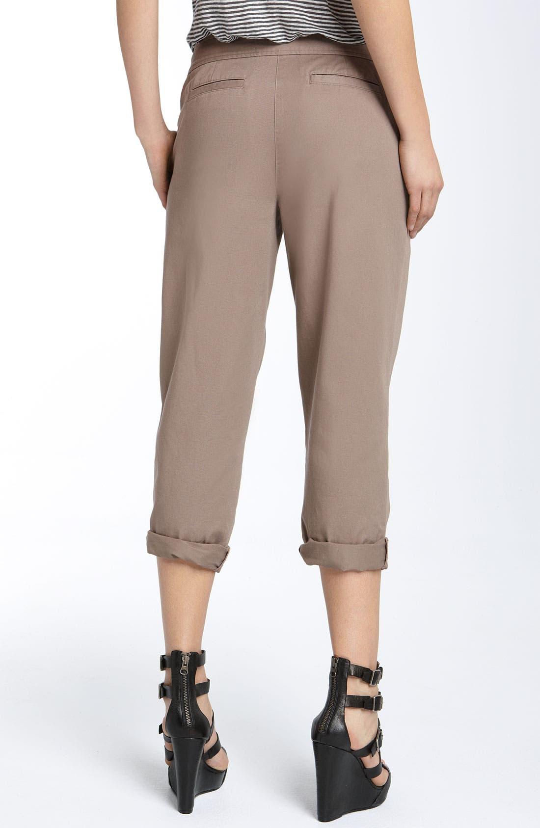 Alternate Image 2  - Hinge® Roll Cuff Cotton Pants