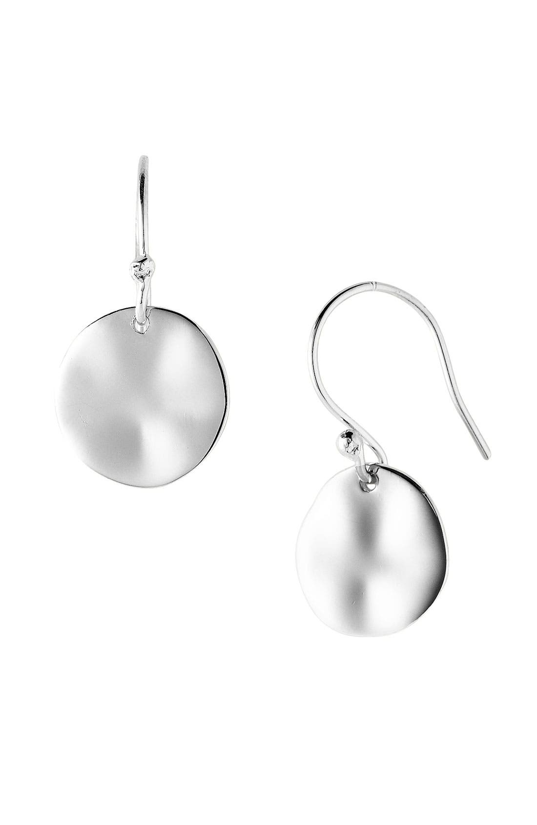 Main Image - Argento Vivo Wavy Disc Drop Earrings
