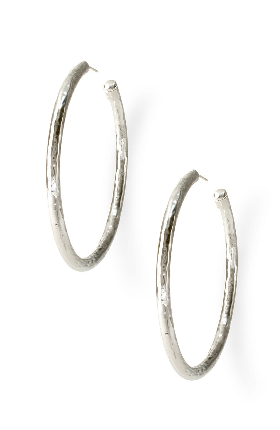 Alternate Image 1 Selected - Ippolita 'Glamazon - Number 4' Skinny Hammered Hoop Earrings