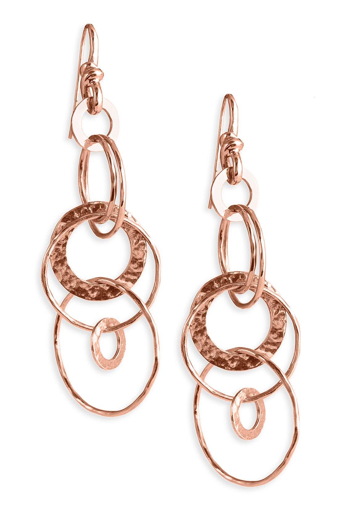 Alternate Image 1 Selected - Ippolita 'Jet Set' Rosé Hammered Earrings