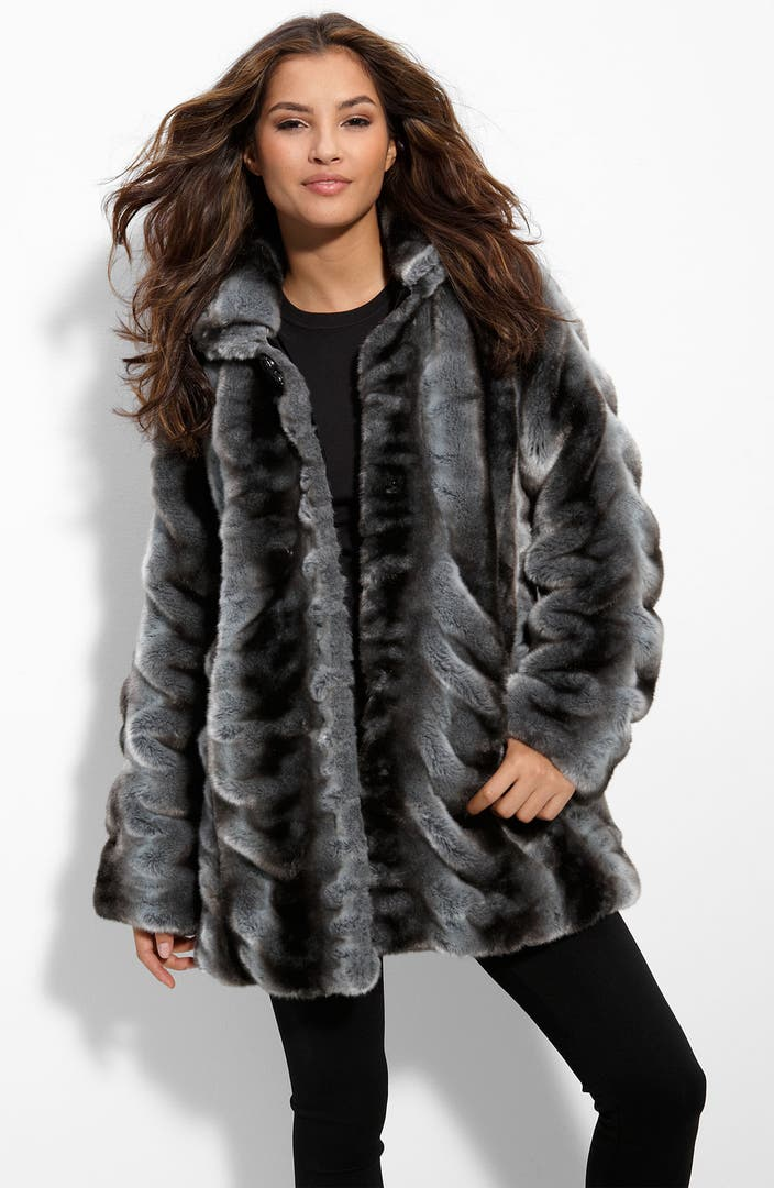 Betsey Johnson Faux Chinchilla Fur Coat Nordstrom