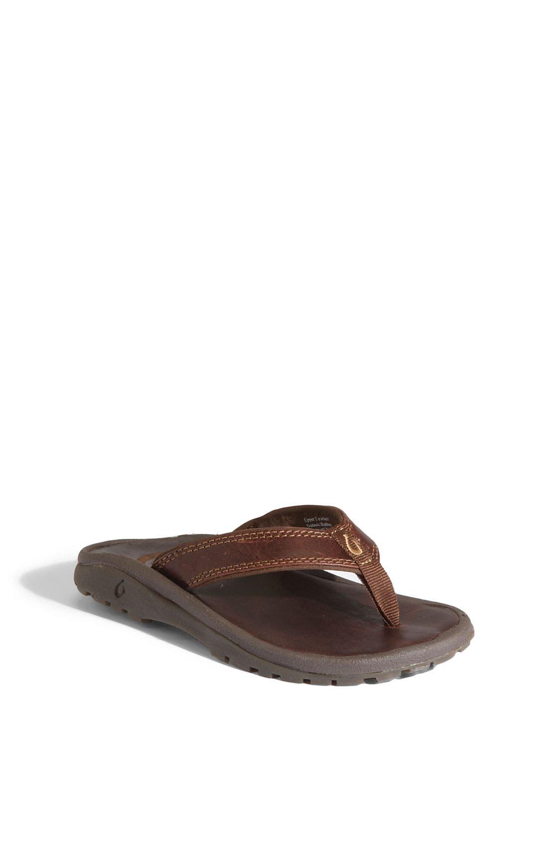 Alternate Image 1 Selected - OluKai 'Ohana' Leather Sandal (Toddler, Little Kid & Big Kid)