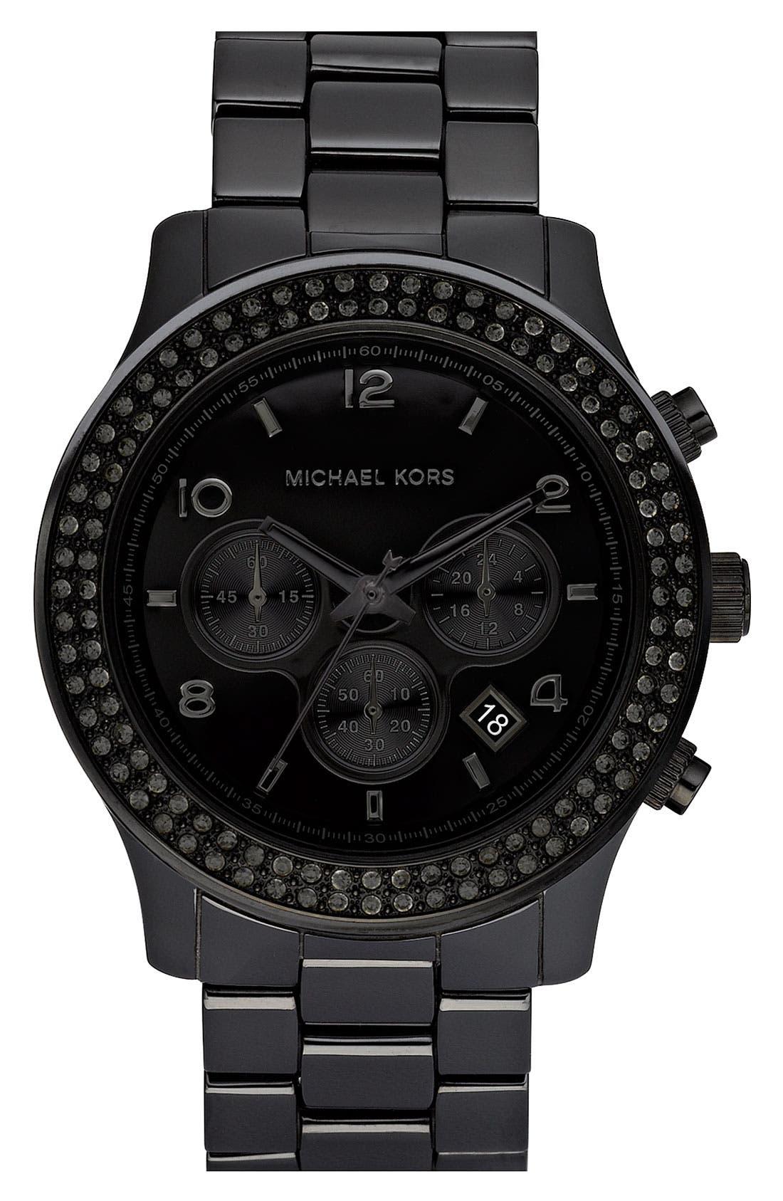 Alternate Image 1 Selected - Michael Kors 'Large Runway Ceramic' Watch