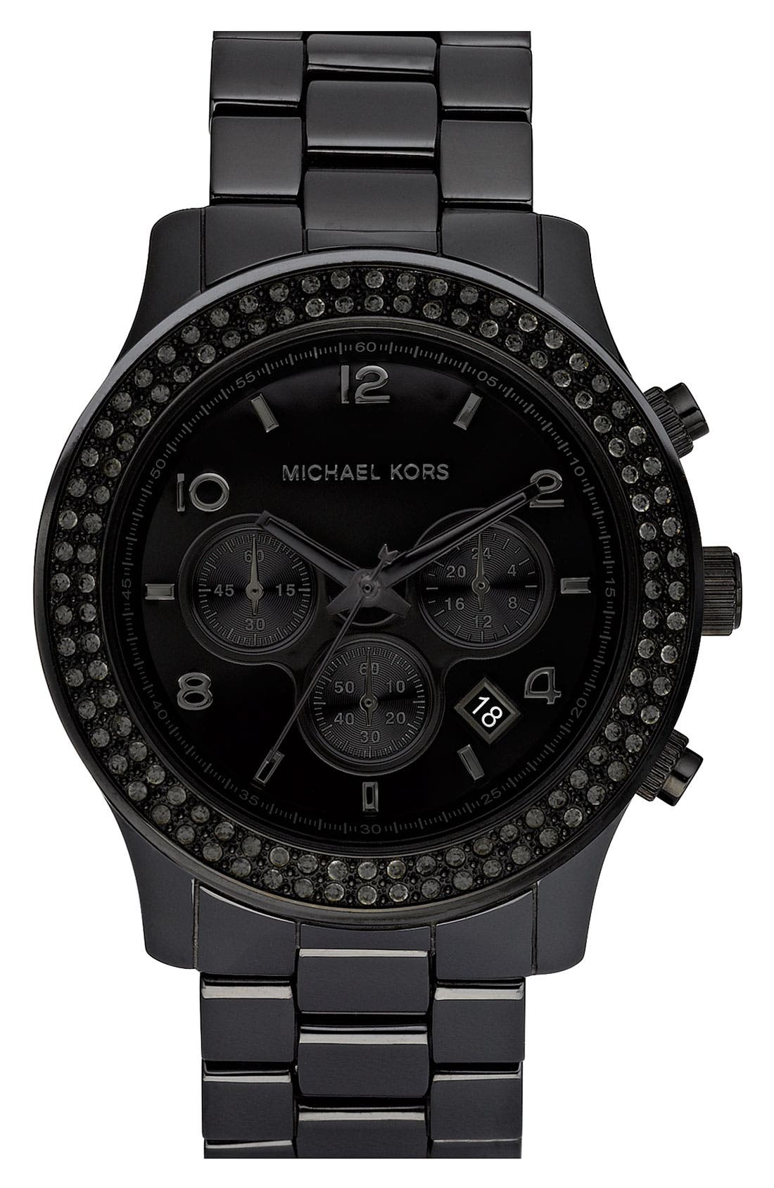 Main Image - Michael Kors 'Large Runway Ceramic' Watch