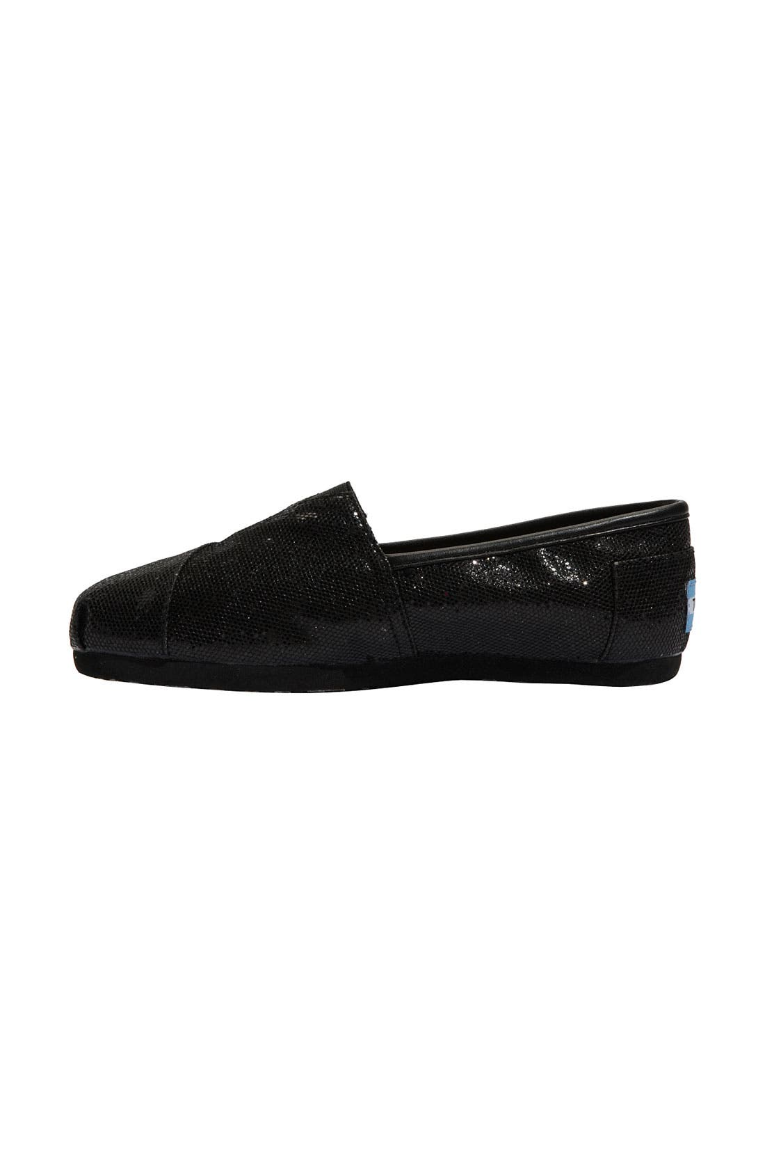 Alternate Image 2  - TOMS 'Classic - Glitter' Slip-On (Women)