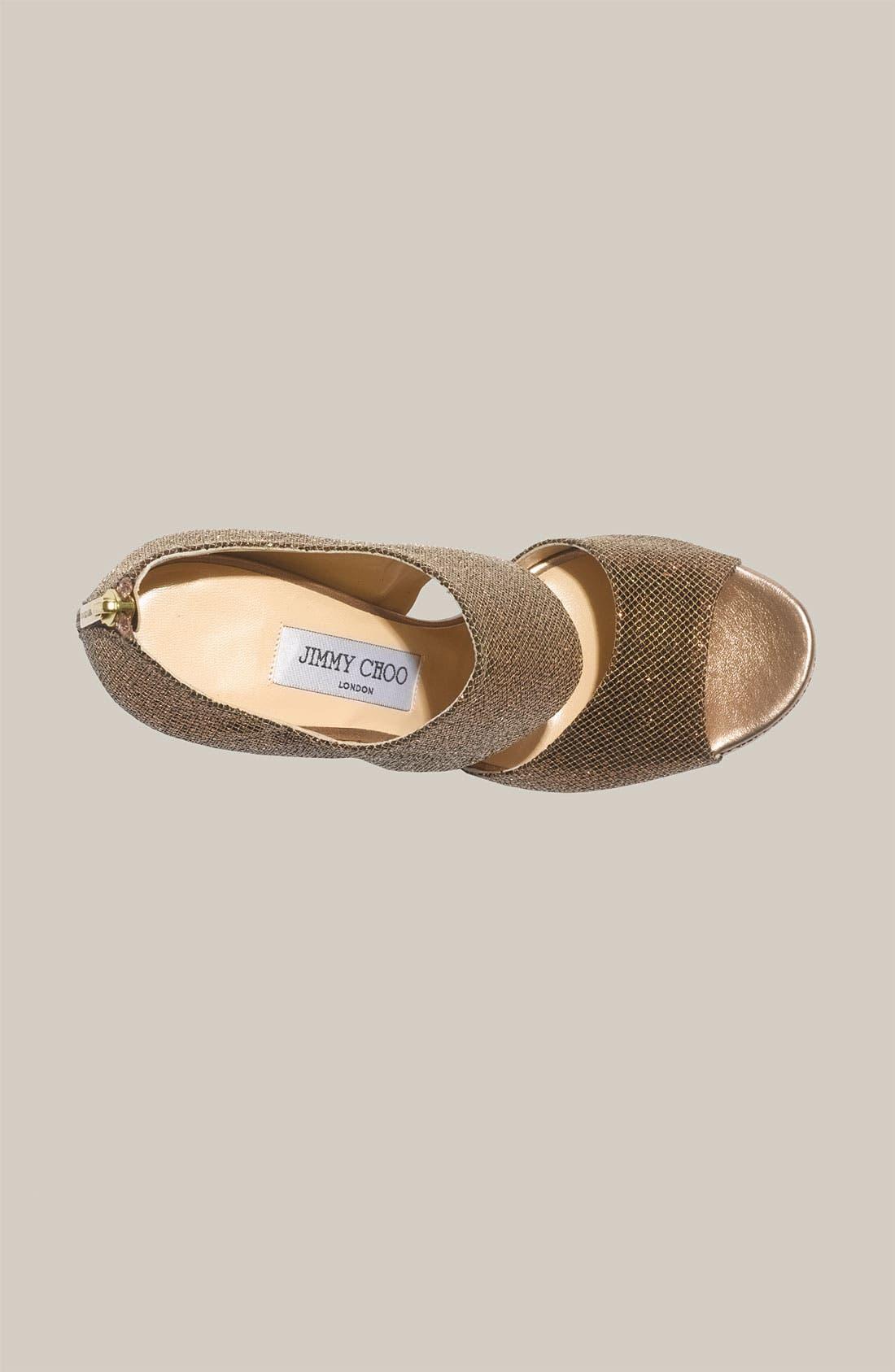 Alternate Image 3  - Jimmy Choo 'Private' Cuff Glitter Fabric Sandal