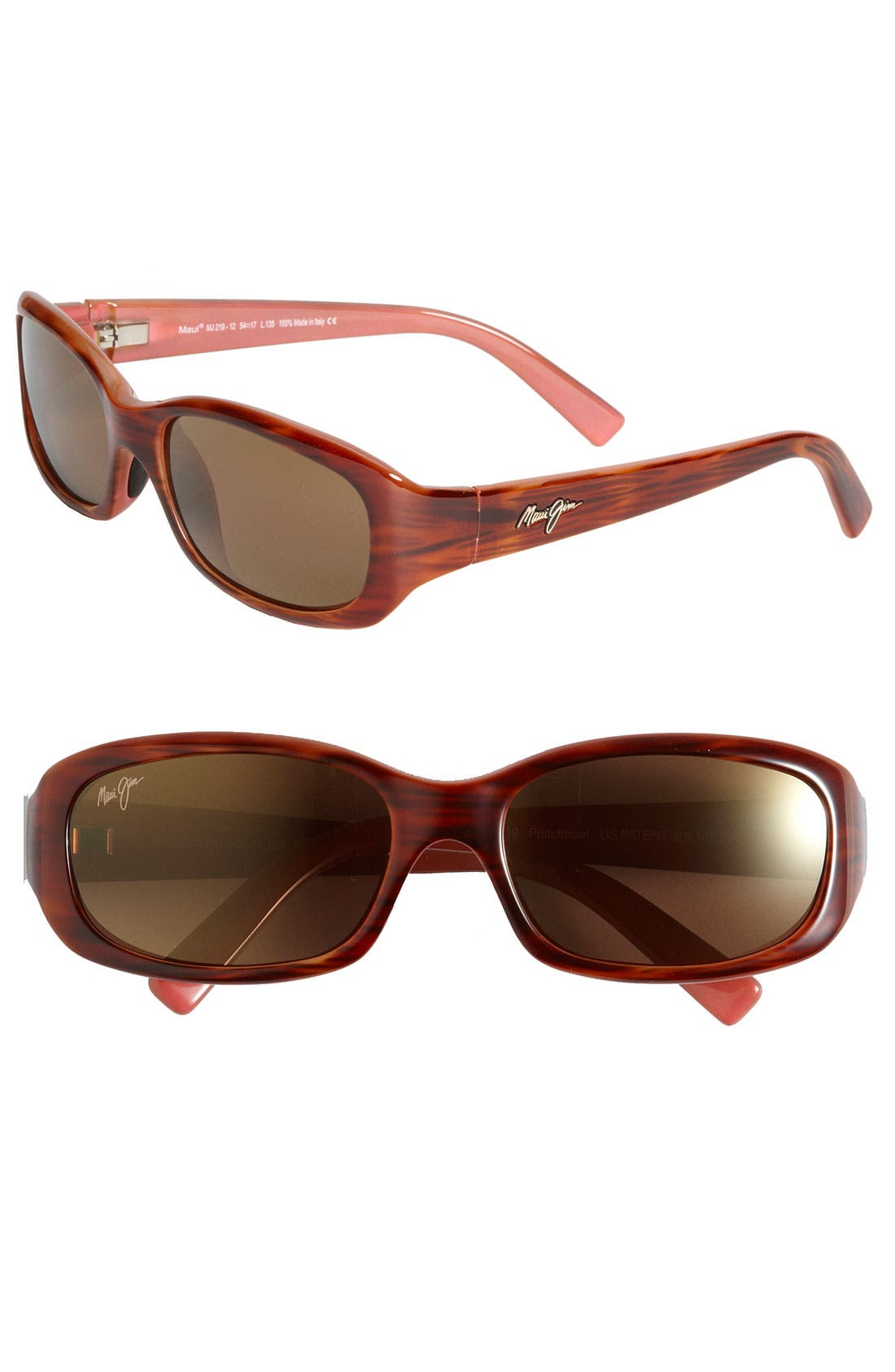 Main Image - Maui Jim Punchbowl 54mm PolarizedPlus2® Rectangular Sunglasses
