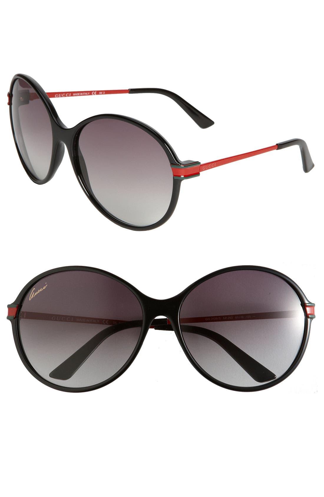 Main Image - Gucci Oversized Round Frame Sunglasses