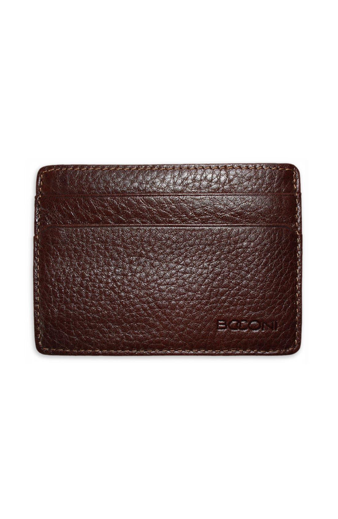 Alternate Image 1 Selected - Boconi Leather Card Case