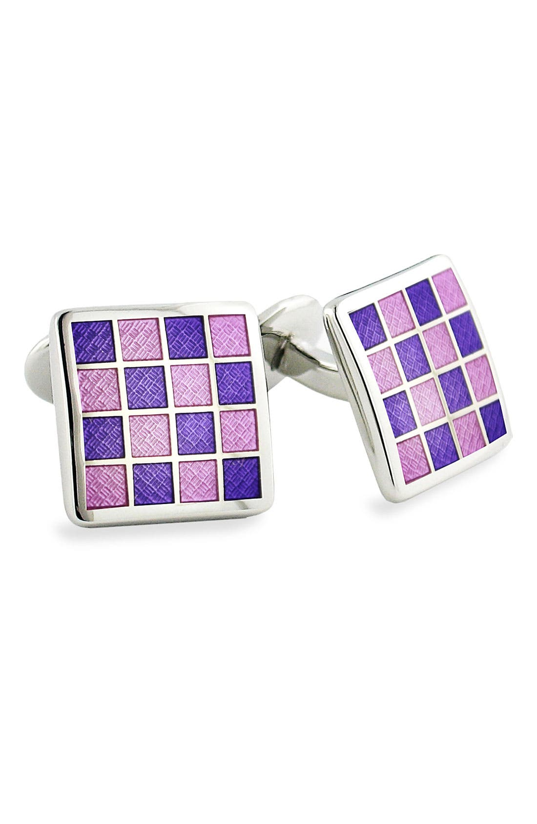 DAVID DONAHUE Enamel Check Cuff Links