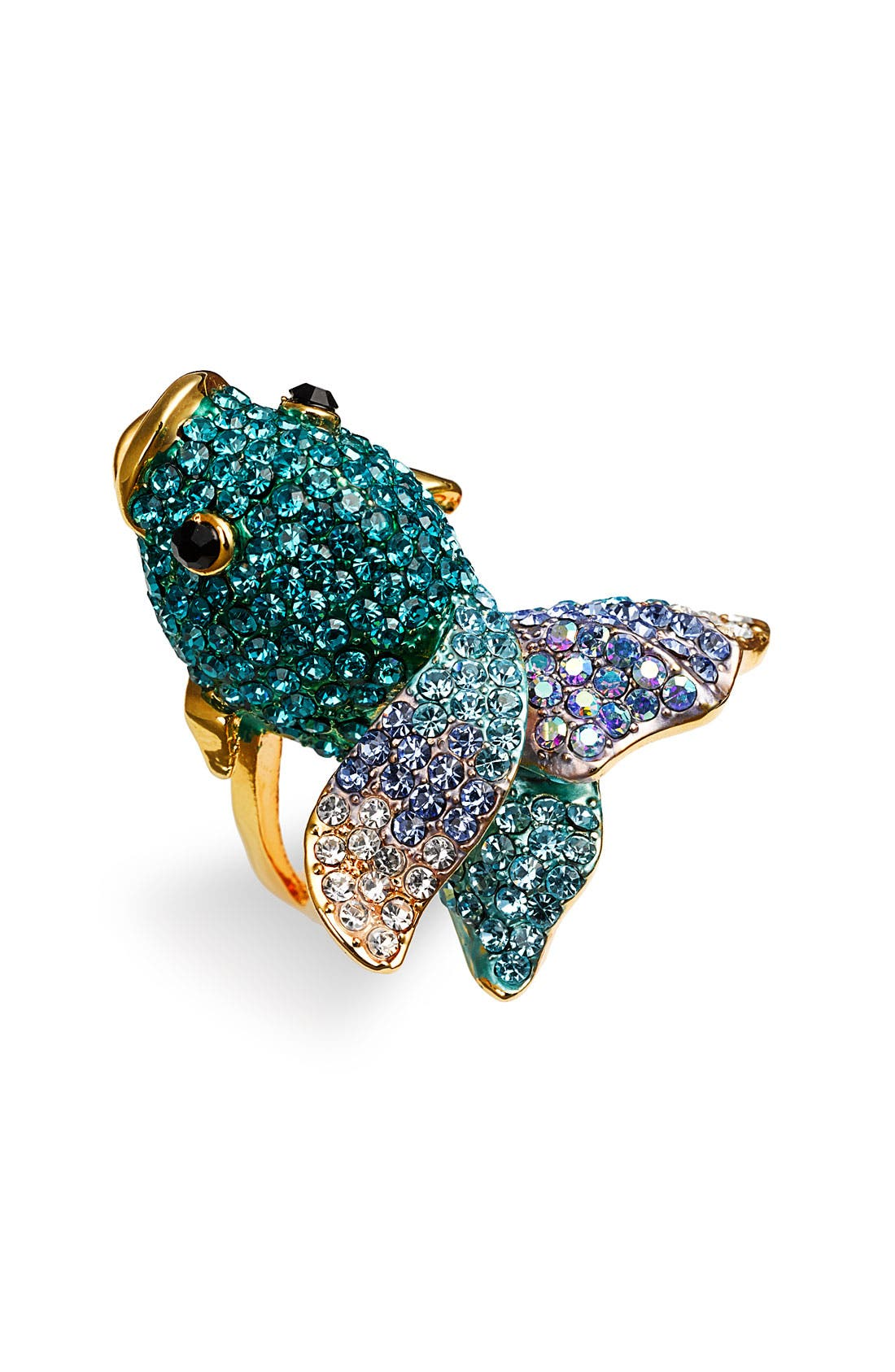 Main Image - Cara Accessories 'Critters' Blowfish Crystal Stretch Ring