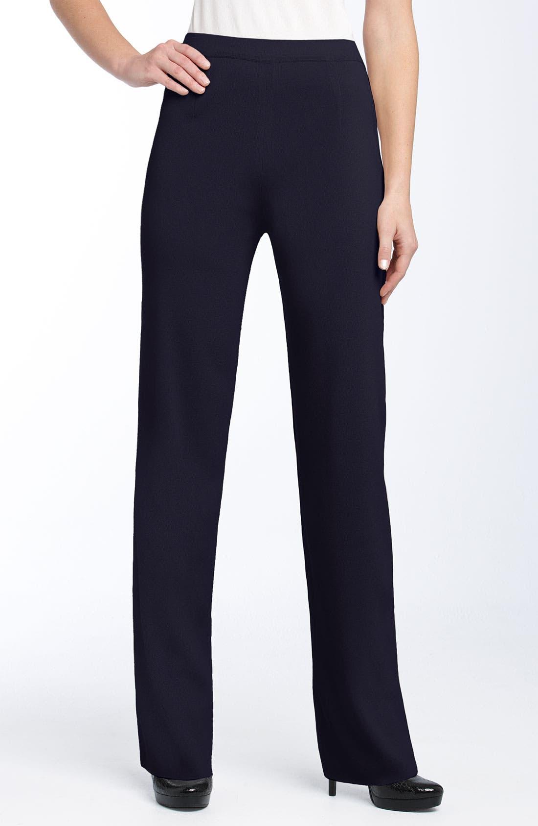 Main Image - Exclusively Misook Slim Knit Pants (Regular & Petite)