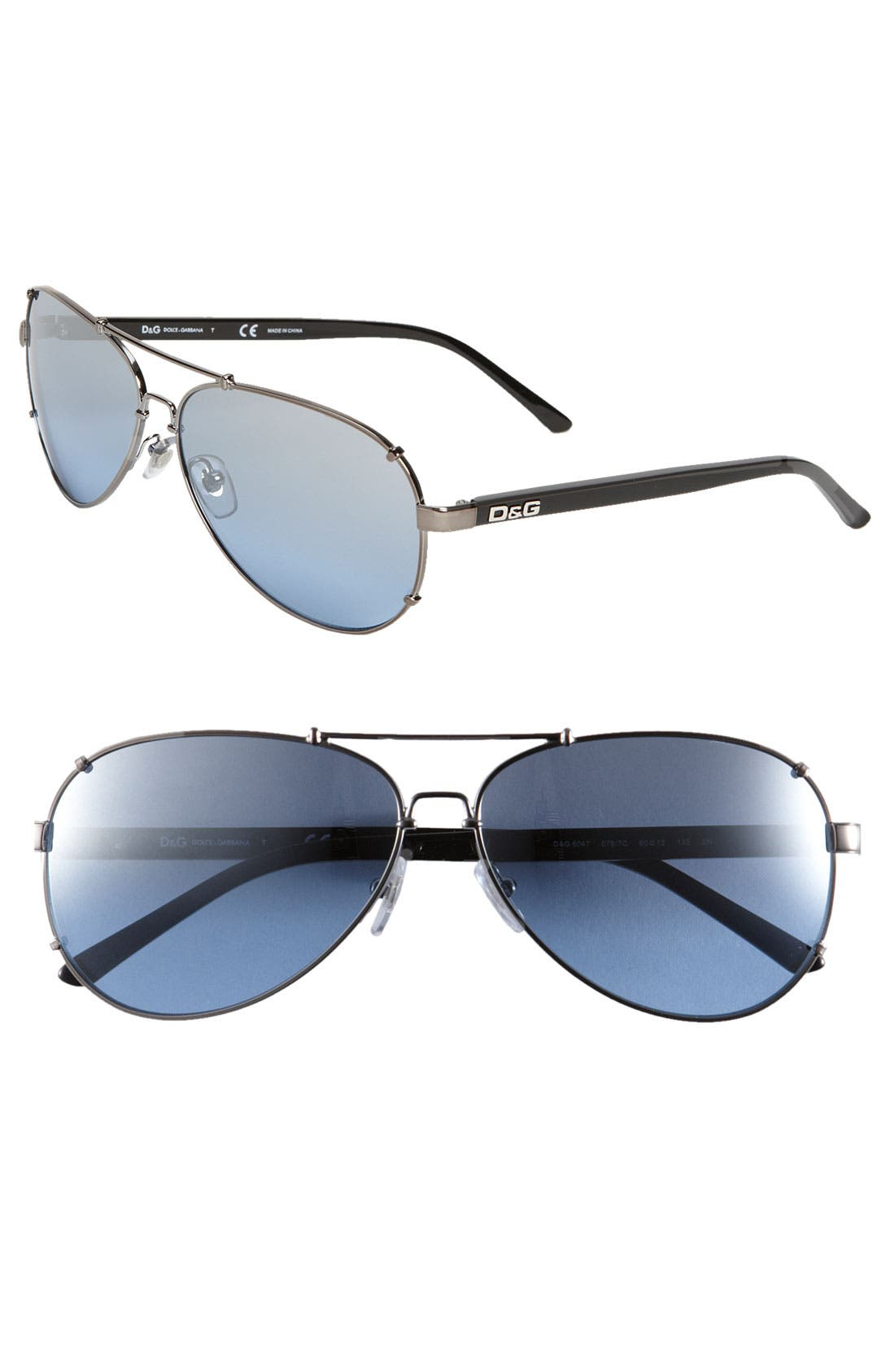 Alternate Image 1 Selected - D&G Metal Aviator Sunglasses
