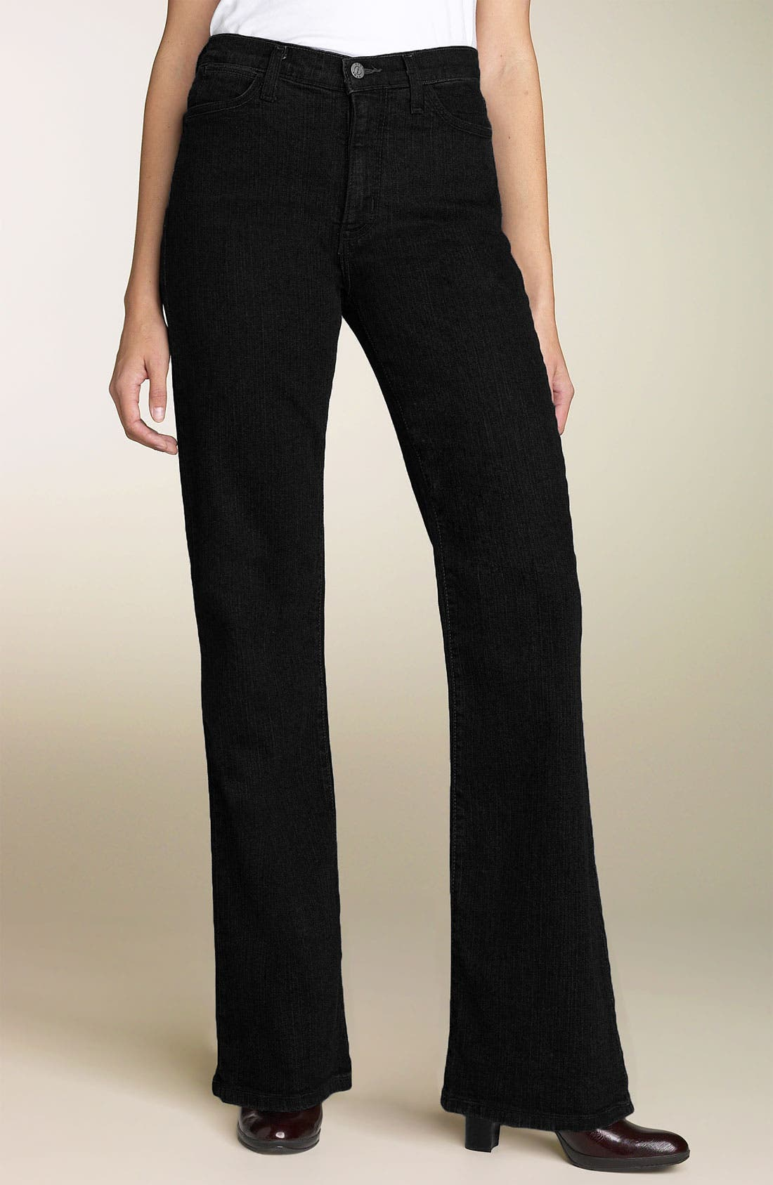 Alternate Image 1 Selected - NYDJ 'Sarah' Stretch Bootcut Jeans (Black) (Long)
