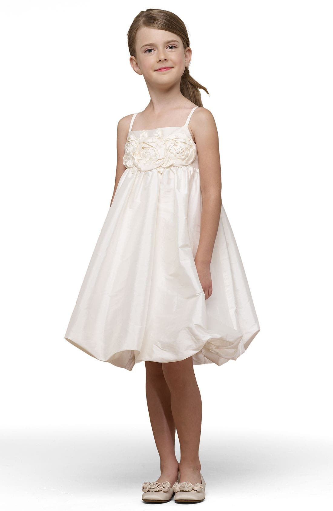 Main Image - Us Angels Taffeta Bubble Dress (Toddler, Little Girls & Big Girls)