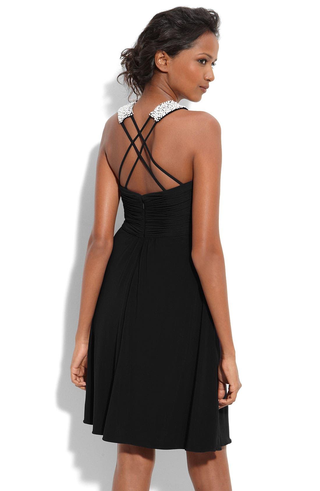 Alternate Image 2  - JS Boutique Embellished Matte Jersey Dress