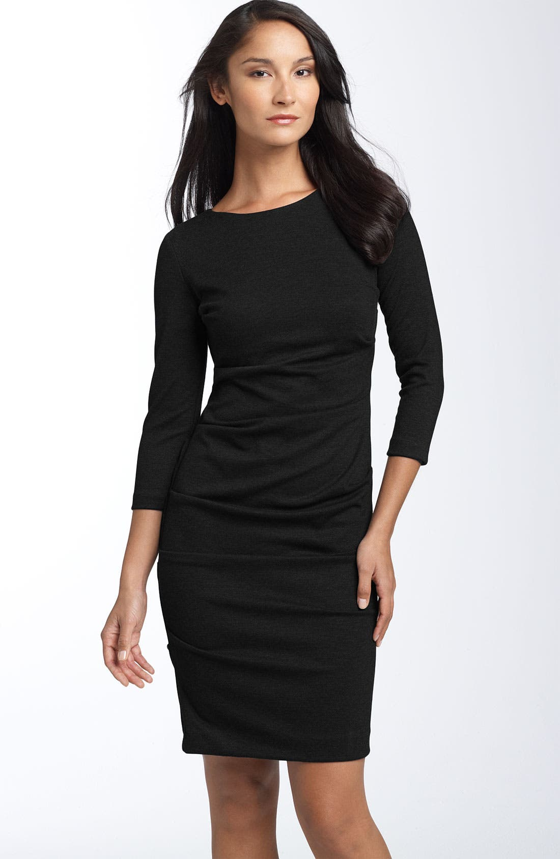 Alternate Image 1 Selected - Nicole Miller Ruched Ponte Knit Sheath Dress