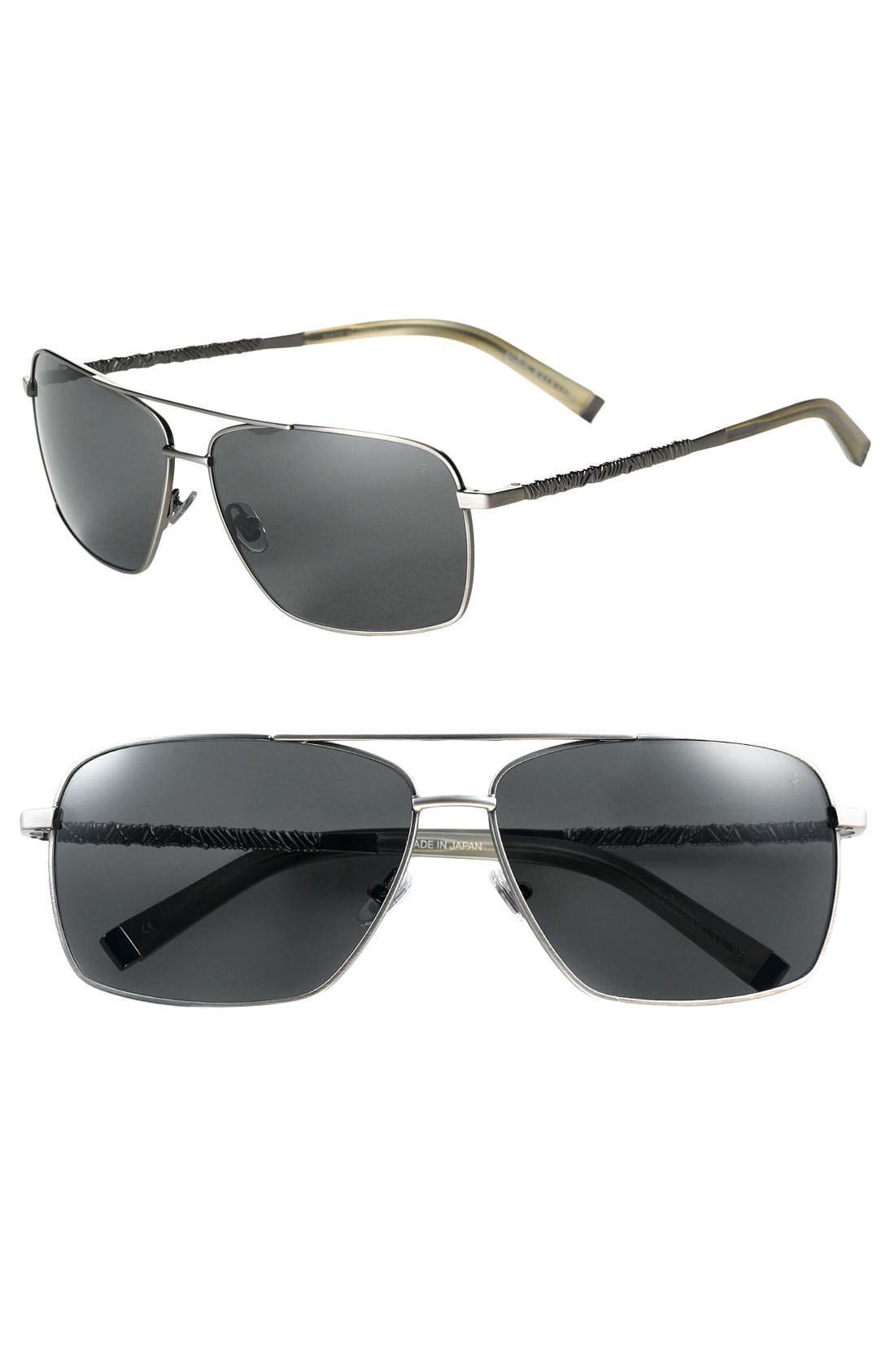 Main Image - John Varvatos Collection Wire Wrap Aviator Sunglasses
