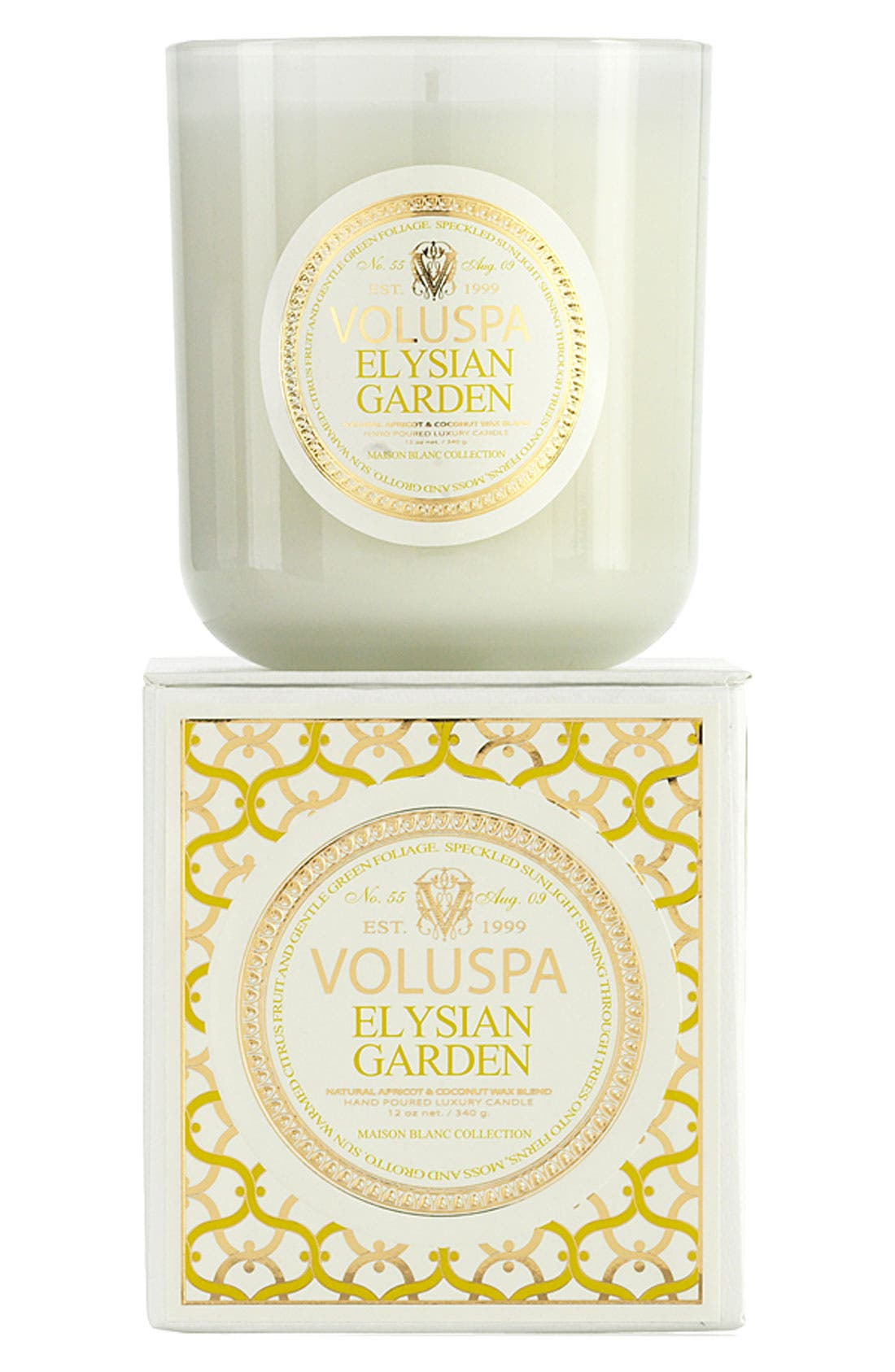 Main Image - Voluspa 'Maison Blanc - Elysian Garden' Boxed Candle