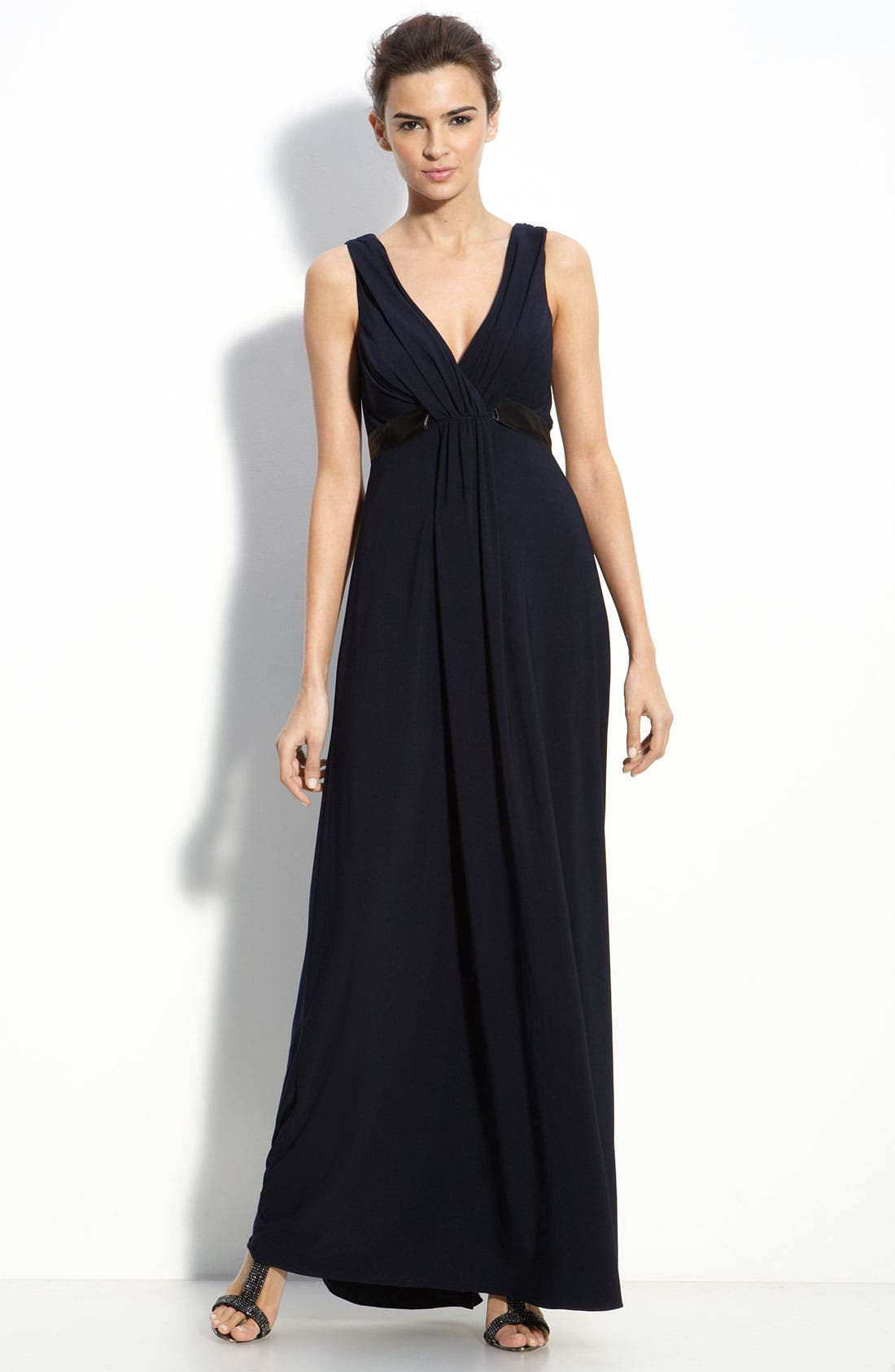 Main Image - Amsale Empire Waist Jersey Dress