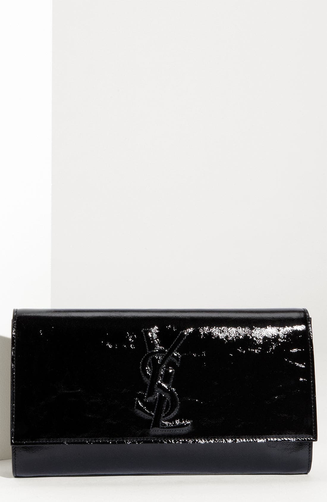 Main Image - Yves Saint Laurent 'Belle de Jour - Large' Patent Envelope Clutch
